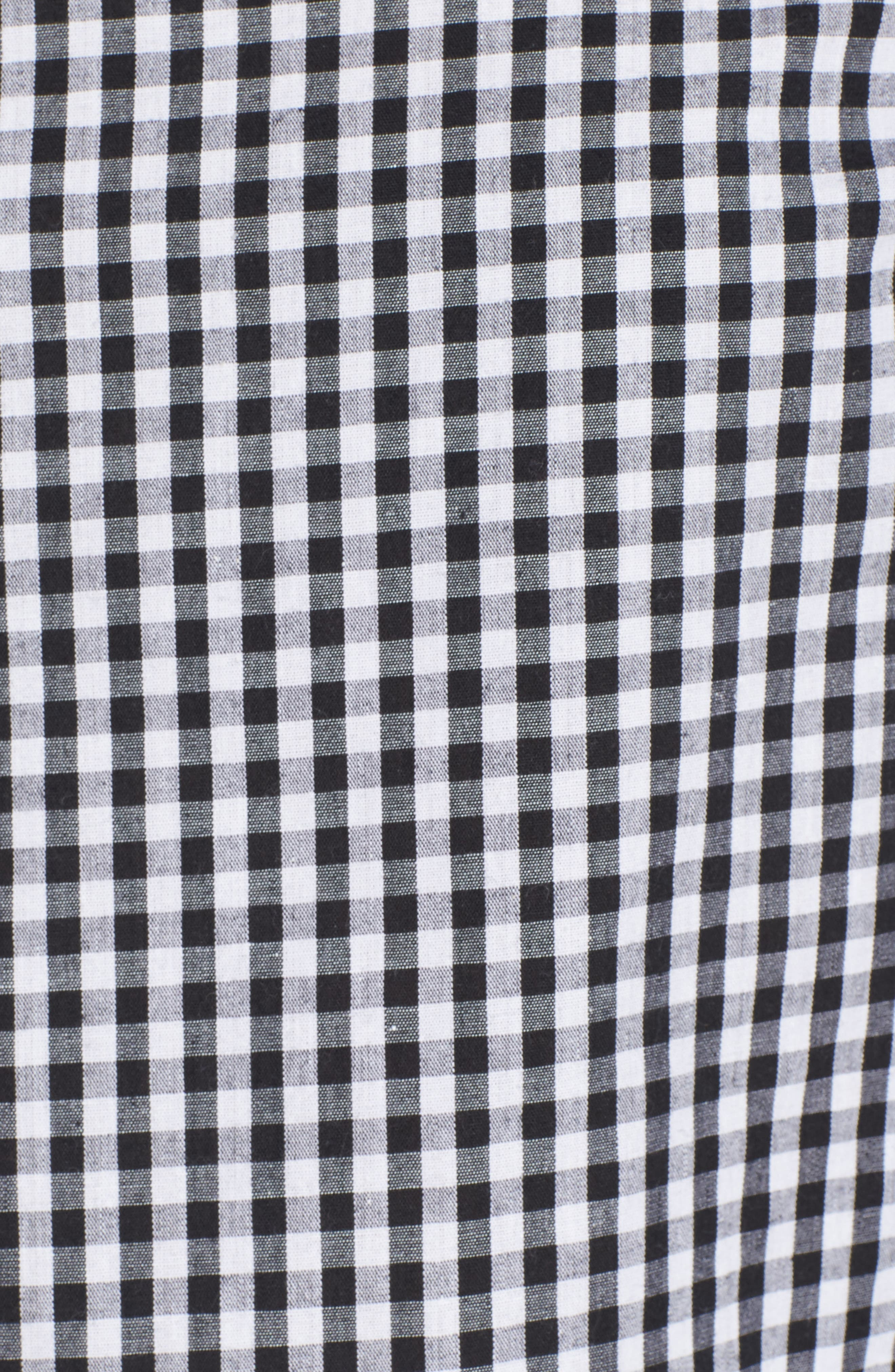Alternate Image 5  - STOREE Ruffle Sleeve Gingham Top