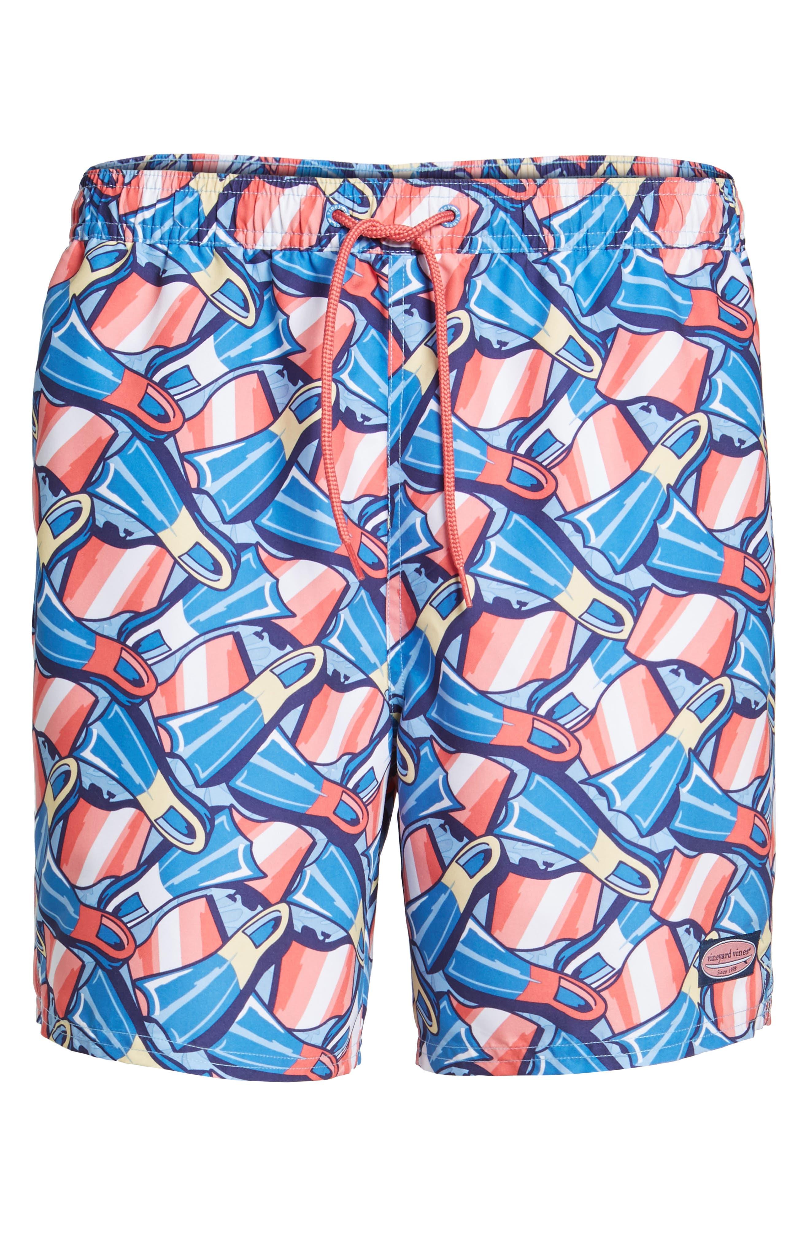 Flippers Chappy Swim Trunks,                             Alternate thumbnail 6, color,                             Dockside Blue