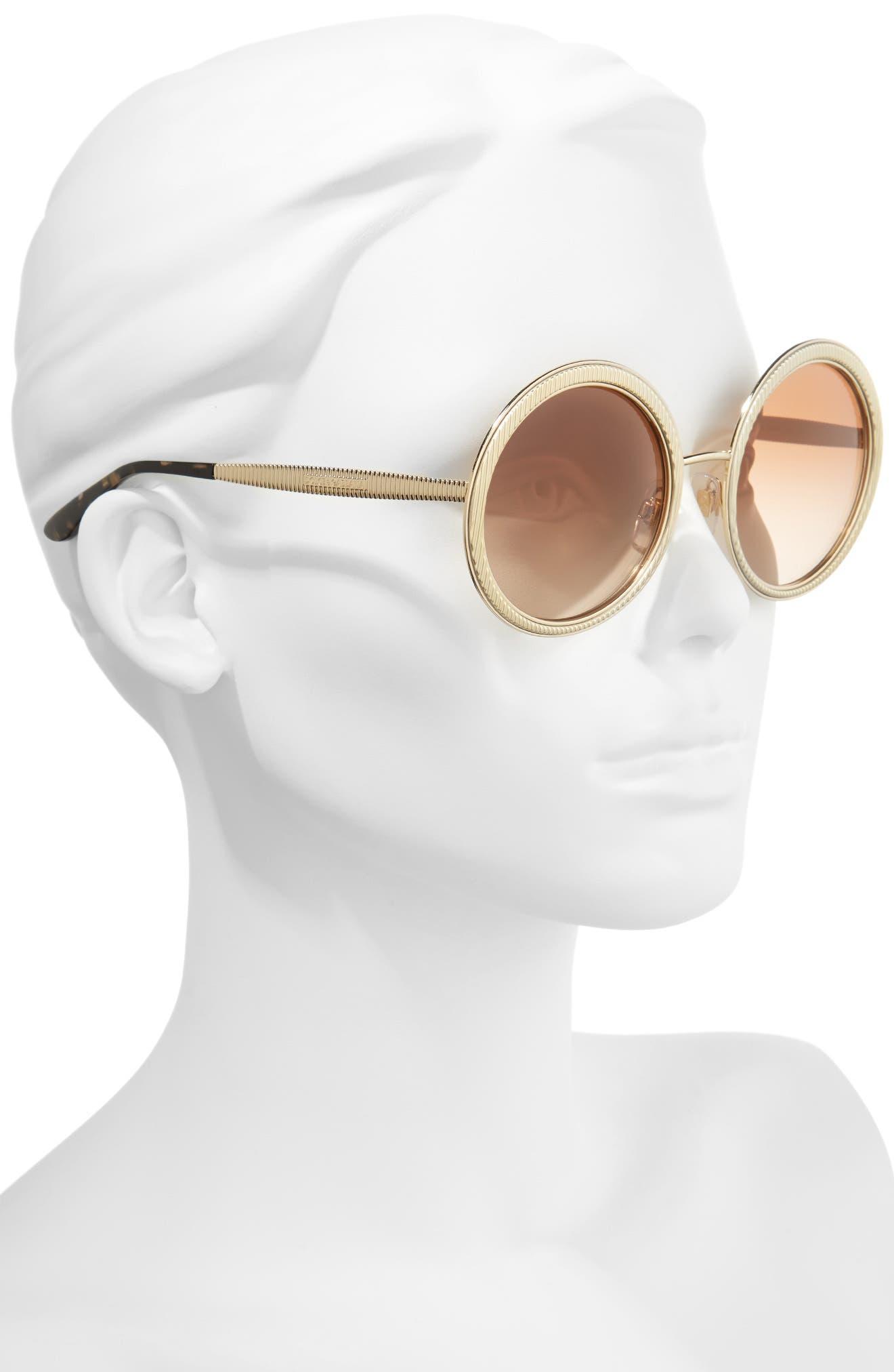 Alternate Image 2  - MDG Madonna for Dolce&Gabbana 54mm Gradient Round Sunglasses