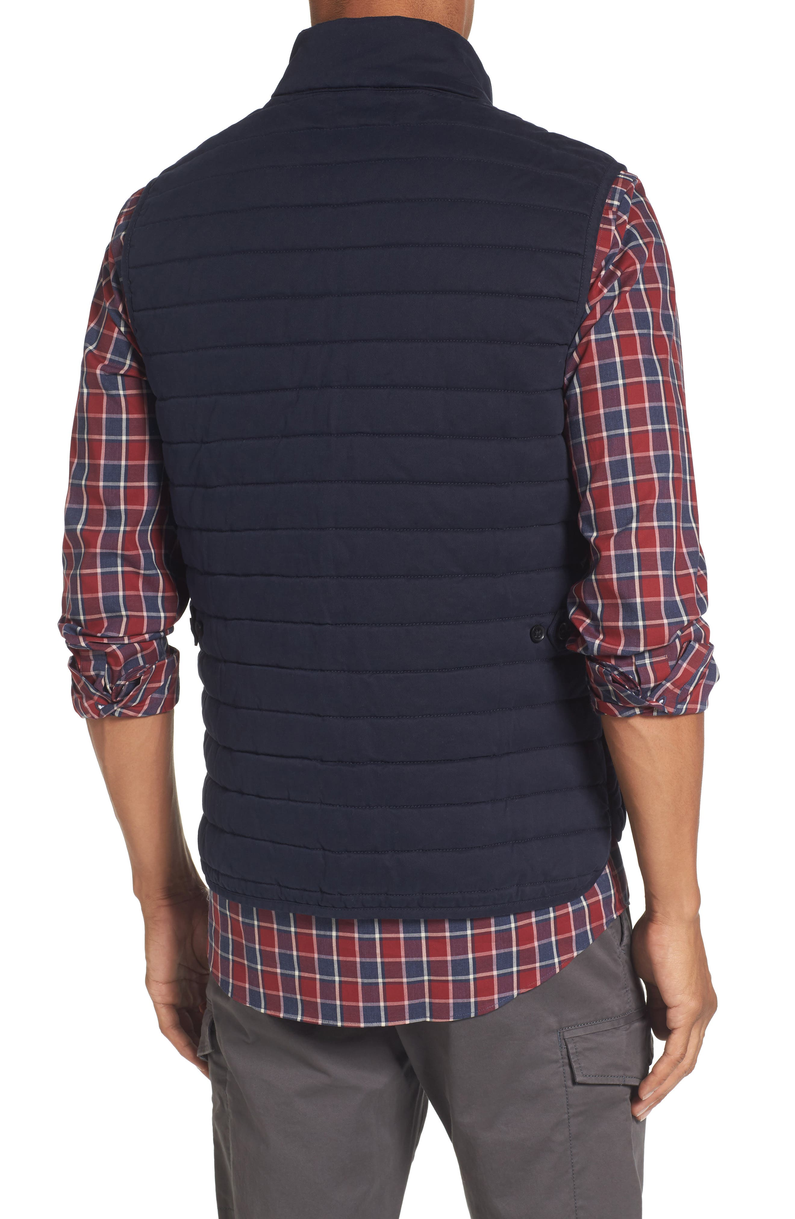 Quilted Twill Vest,                             Alternate thumbnail 2, color,                             Navy Night