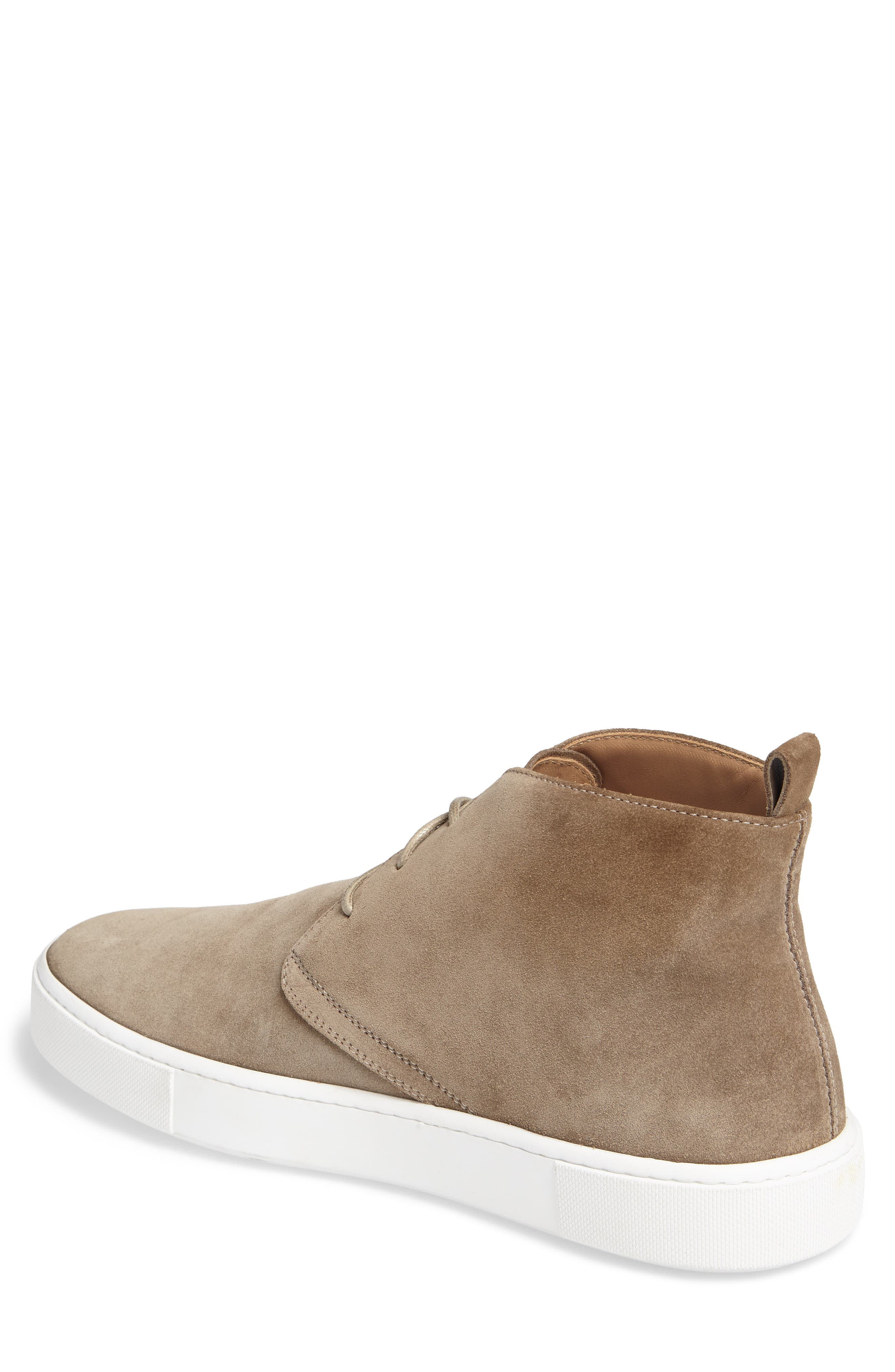 Leather Chukka Boot,                             Alternate thumbnail 2, color,                             Brown Suede