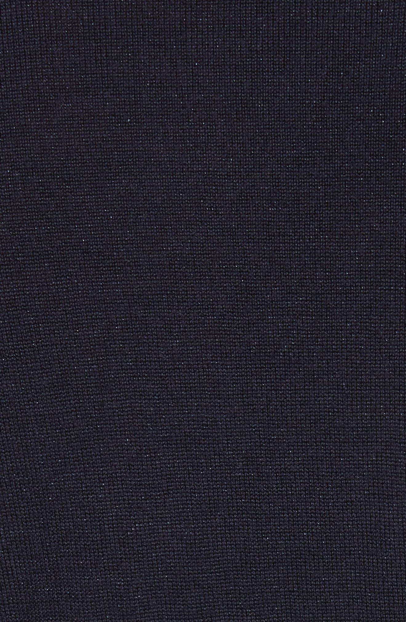 AJ V-Neck Sweater,                             Alternate thumbnail 5, color,                             Night Blue