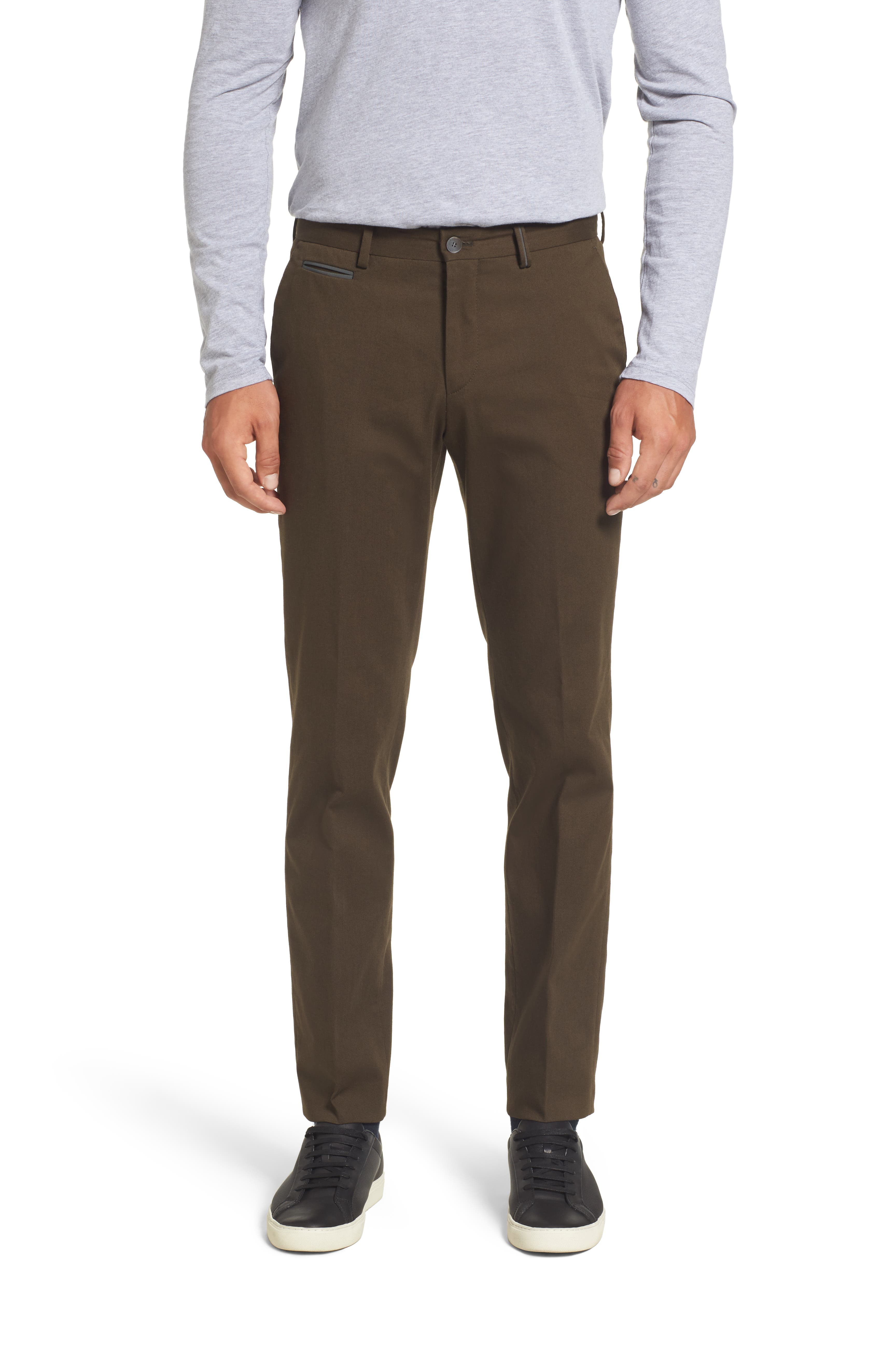 Batho-W Regular Fit Trousers,                             Main thumbnail 1, color,                             Open Green