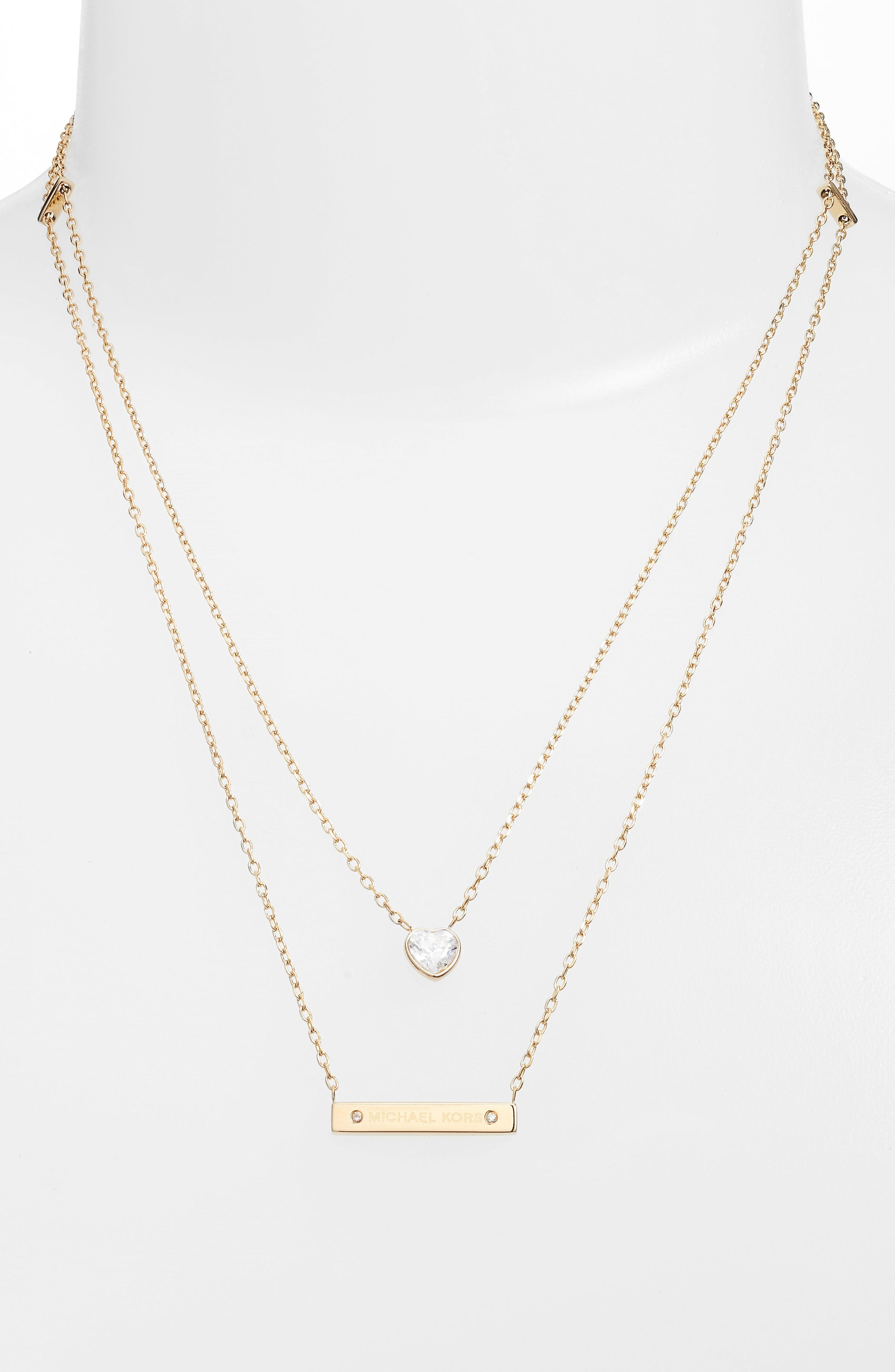 Alternate Image 1 Selected - Michael Kors Multistrand Pendant Necklace
