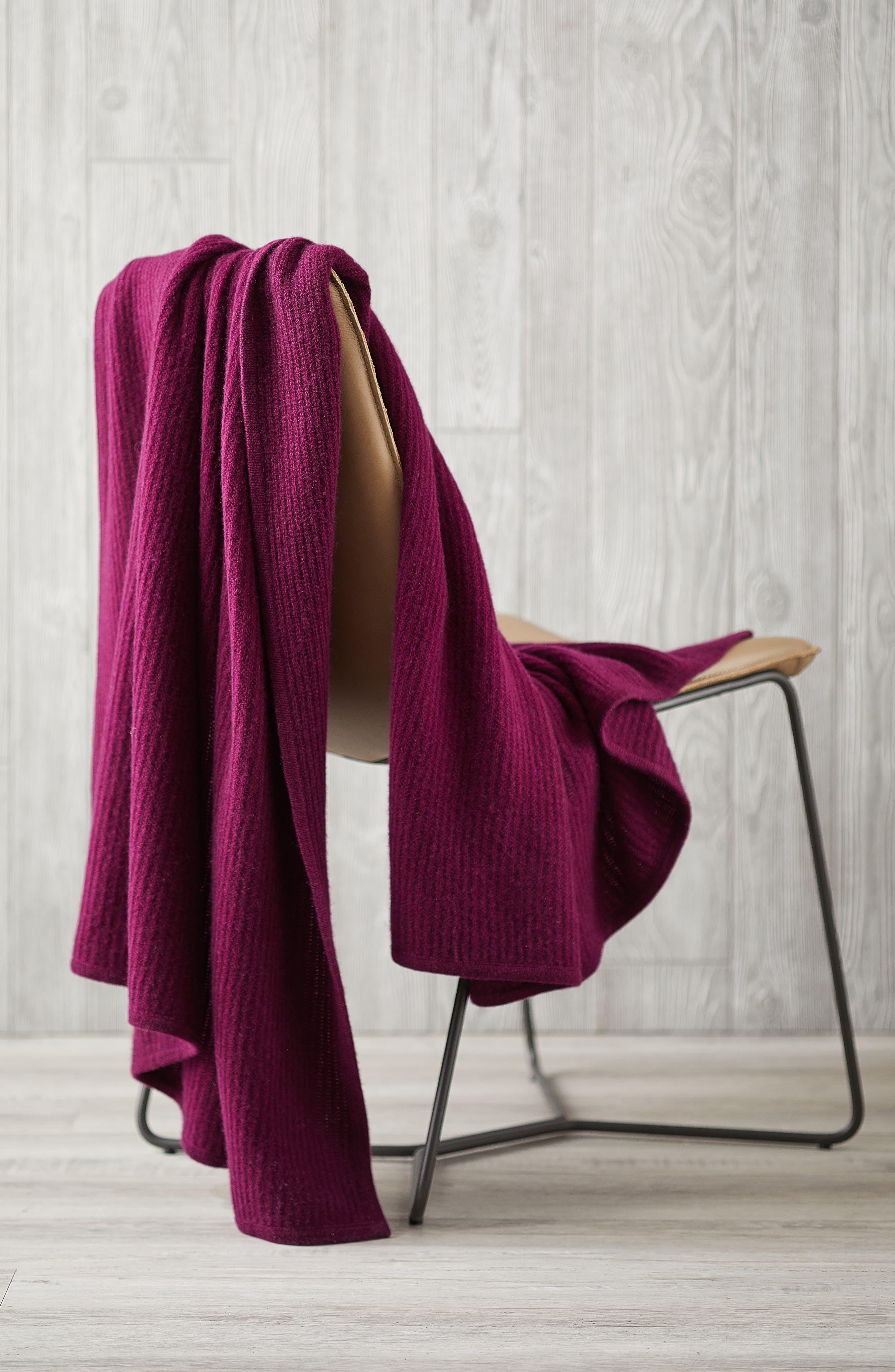 Alternate Image 2  - Nordstrom at Home Lattice Cashmere Throw Blanket