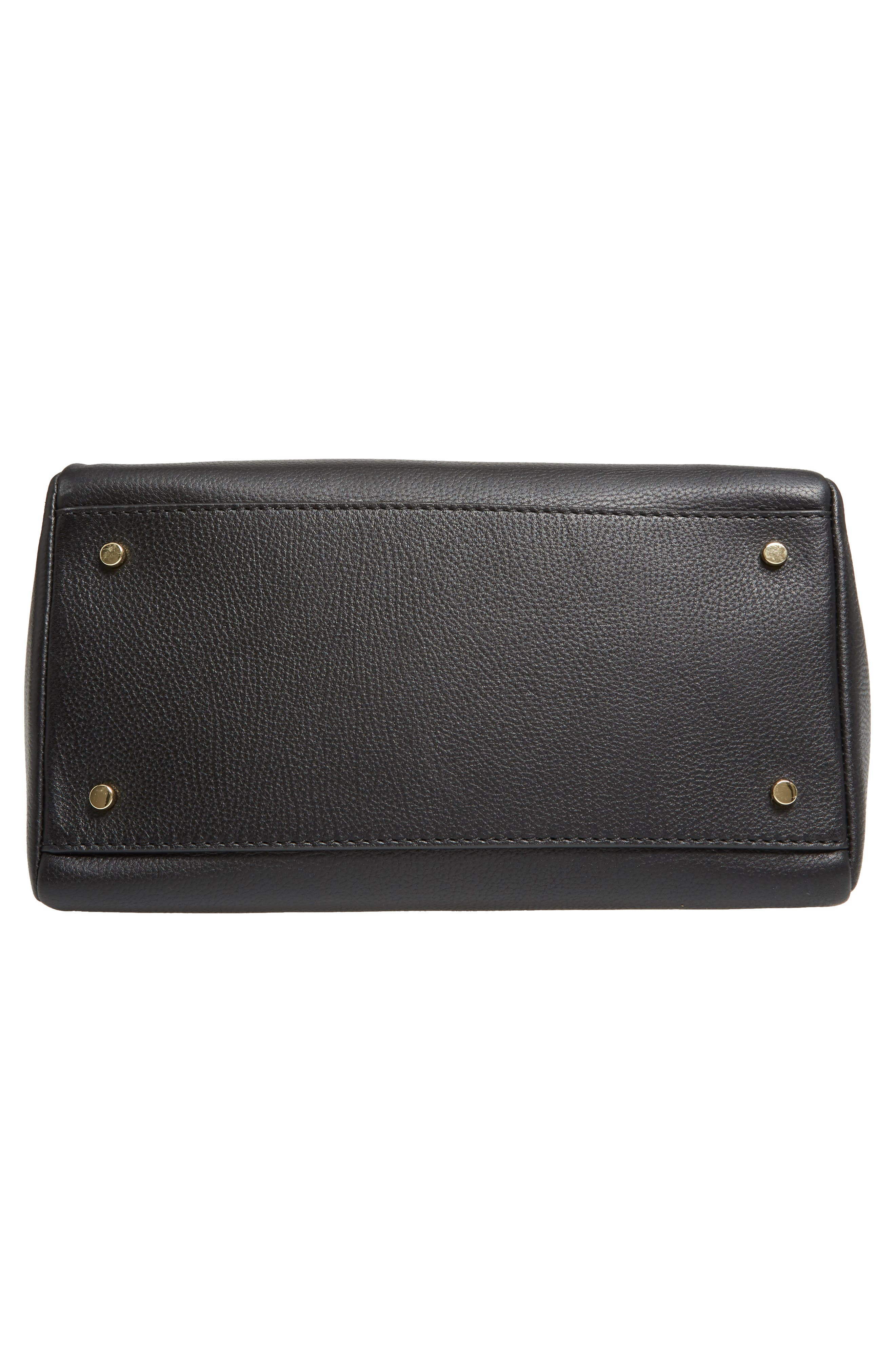 kingston drive - alena leather satchel,                             Alternate thumbnail 5, color,                             Black