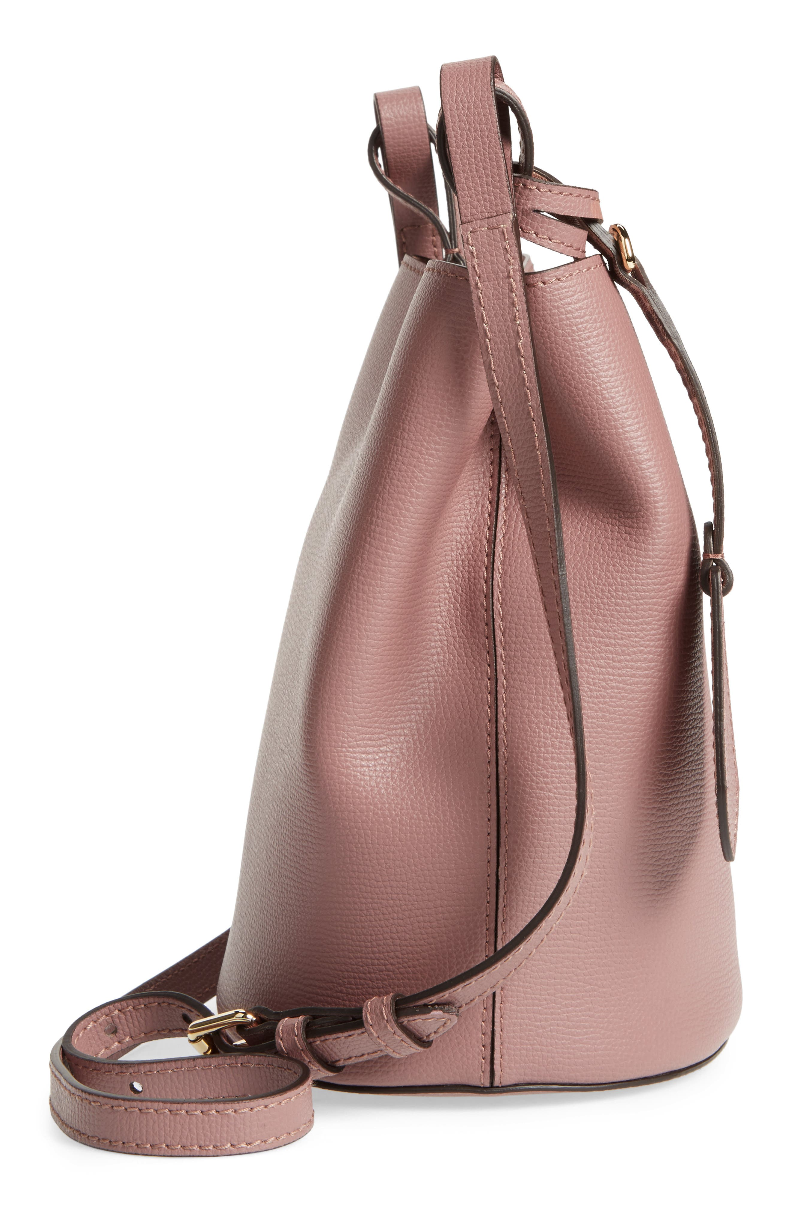 Alternate Image 3  - Burberry Small Lorne Leather Bucket Bag