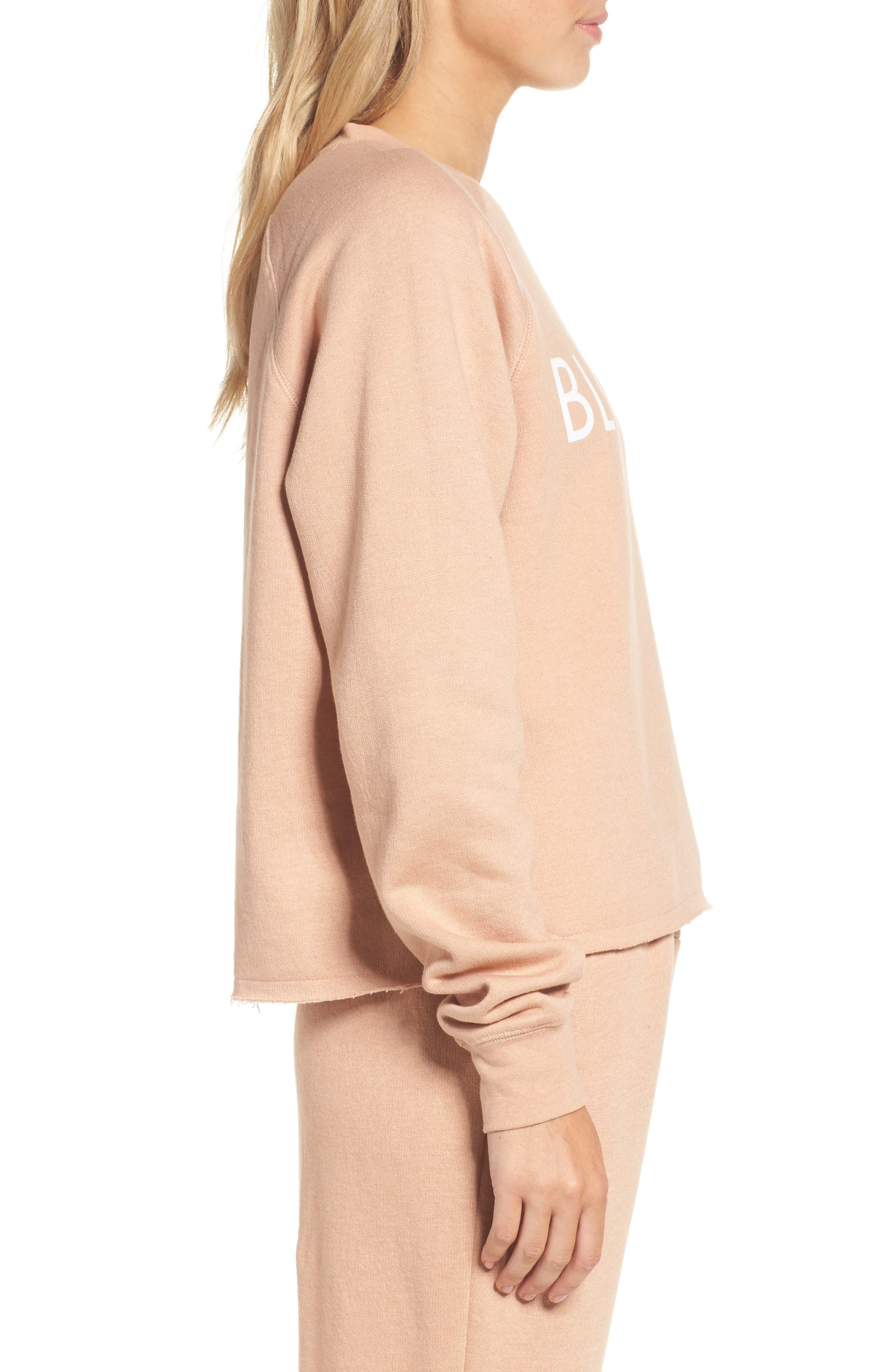 Alternate Image 3  - BRUNETTE the Label Middle Sister Blonde Sweatshirt