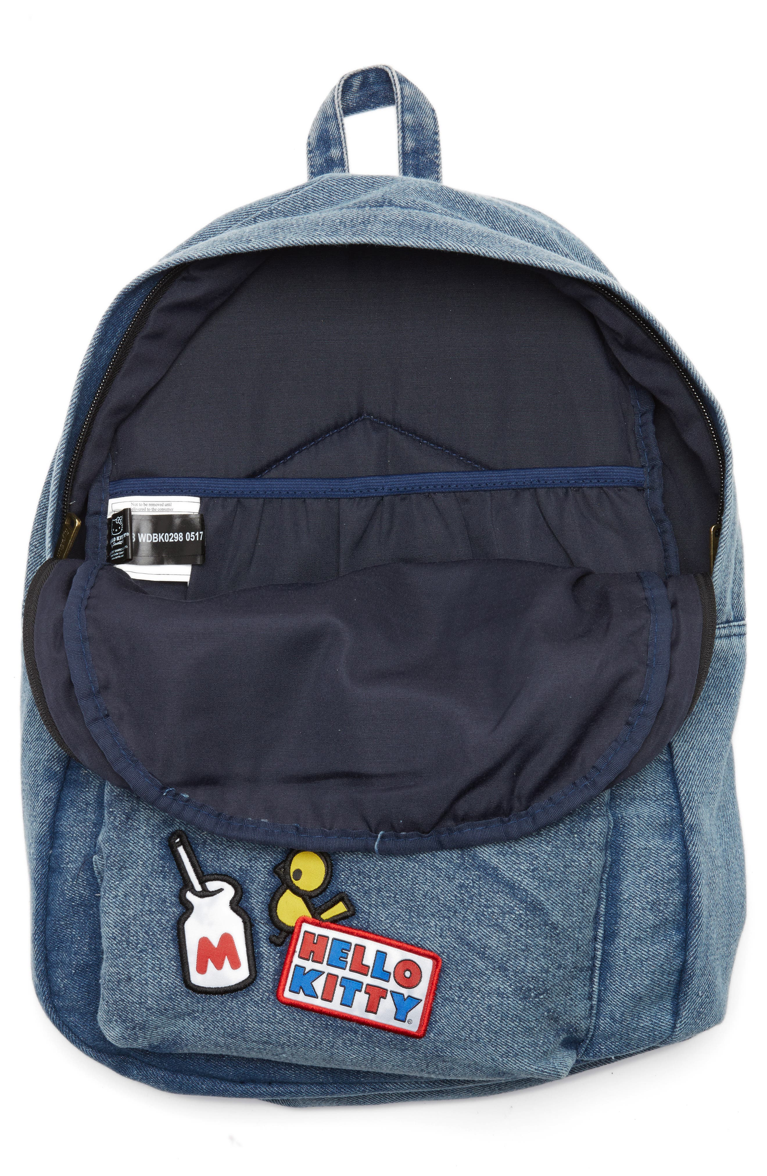 Alternate Image 4  - Loungefly Hello Kitty® Patch Denim Backpack (Kids)