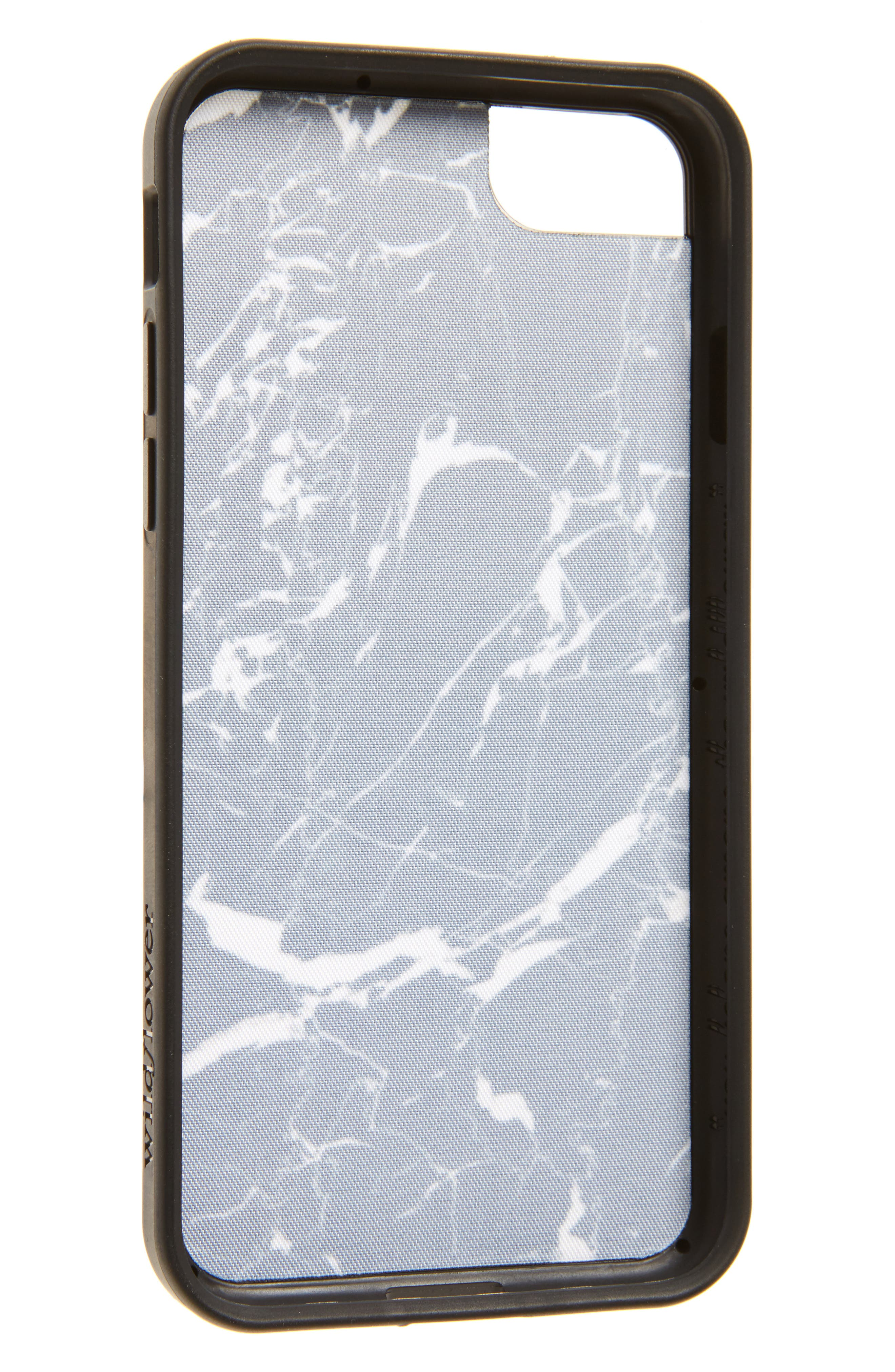 Marble iPhone 7 Case,                             Alternate thumbnail 2, color,                             Black/ White