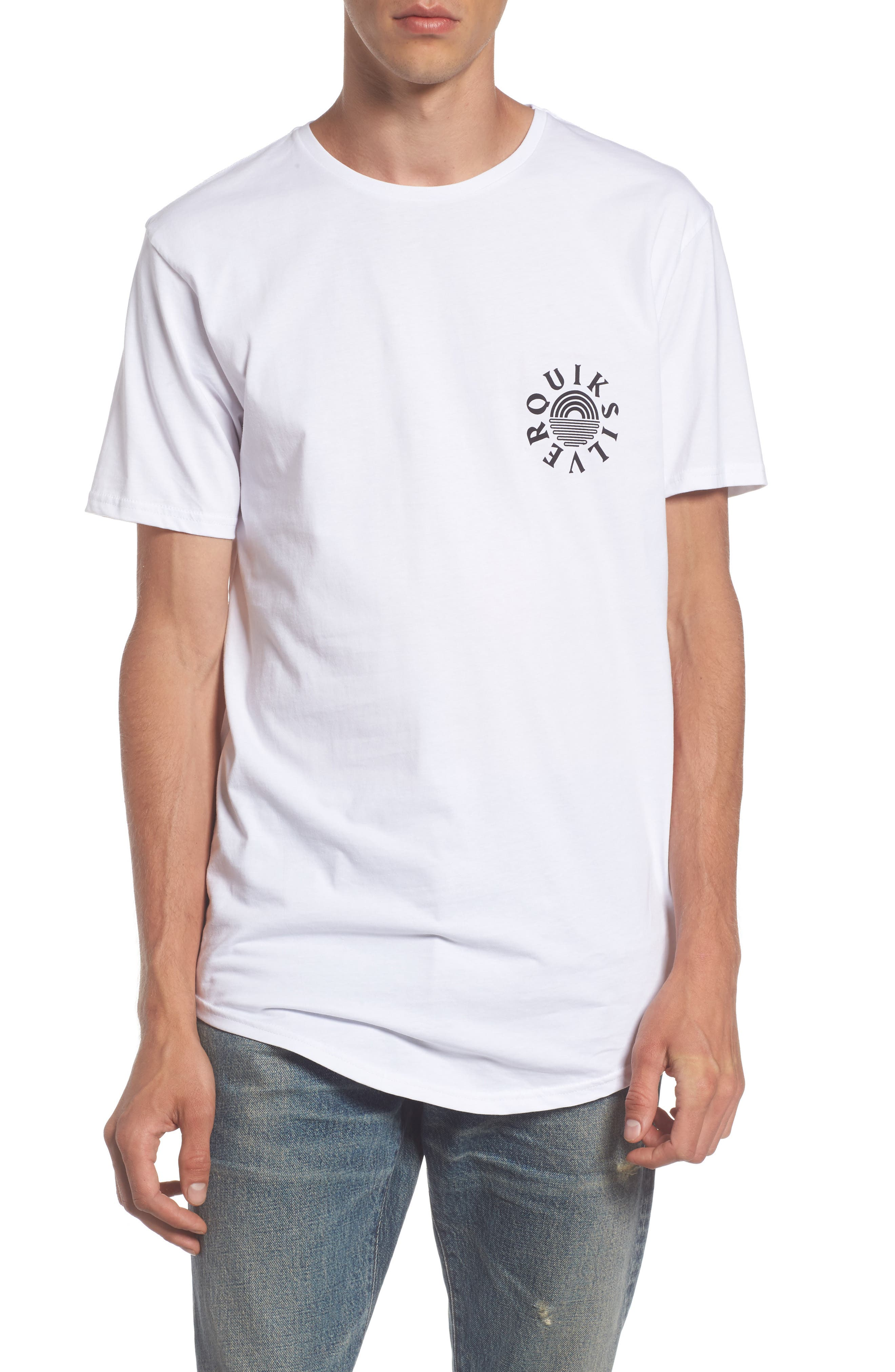 Rising Dog Logo T-Shirt,                             Main thumbnail 1, color,                             White