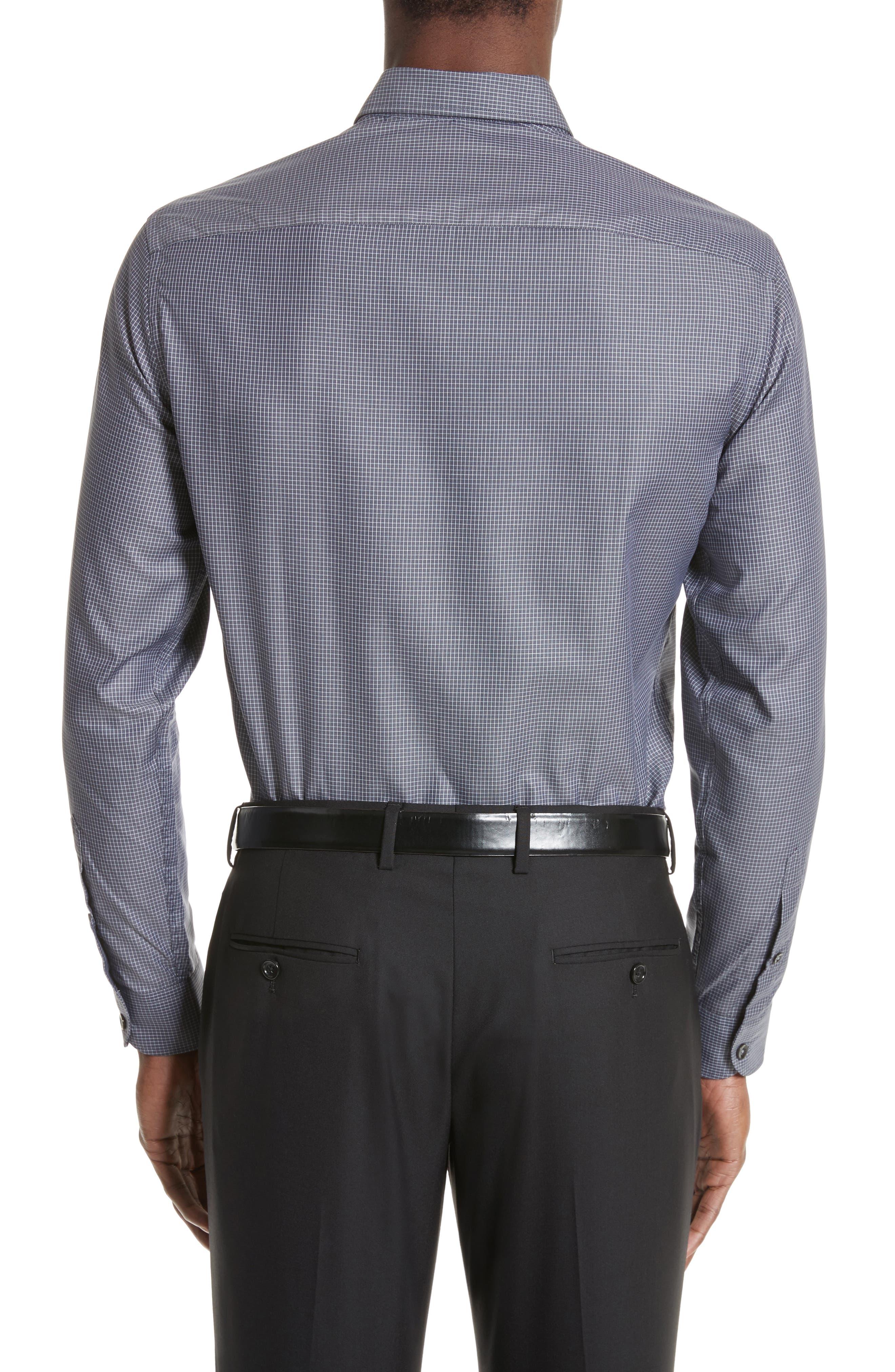 Regular Fit Mini Box Sport Shirt,                             Alternate thumbnail 3, color,                             Red Rib