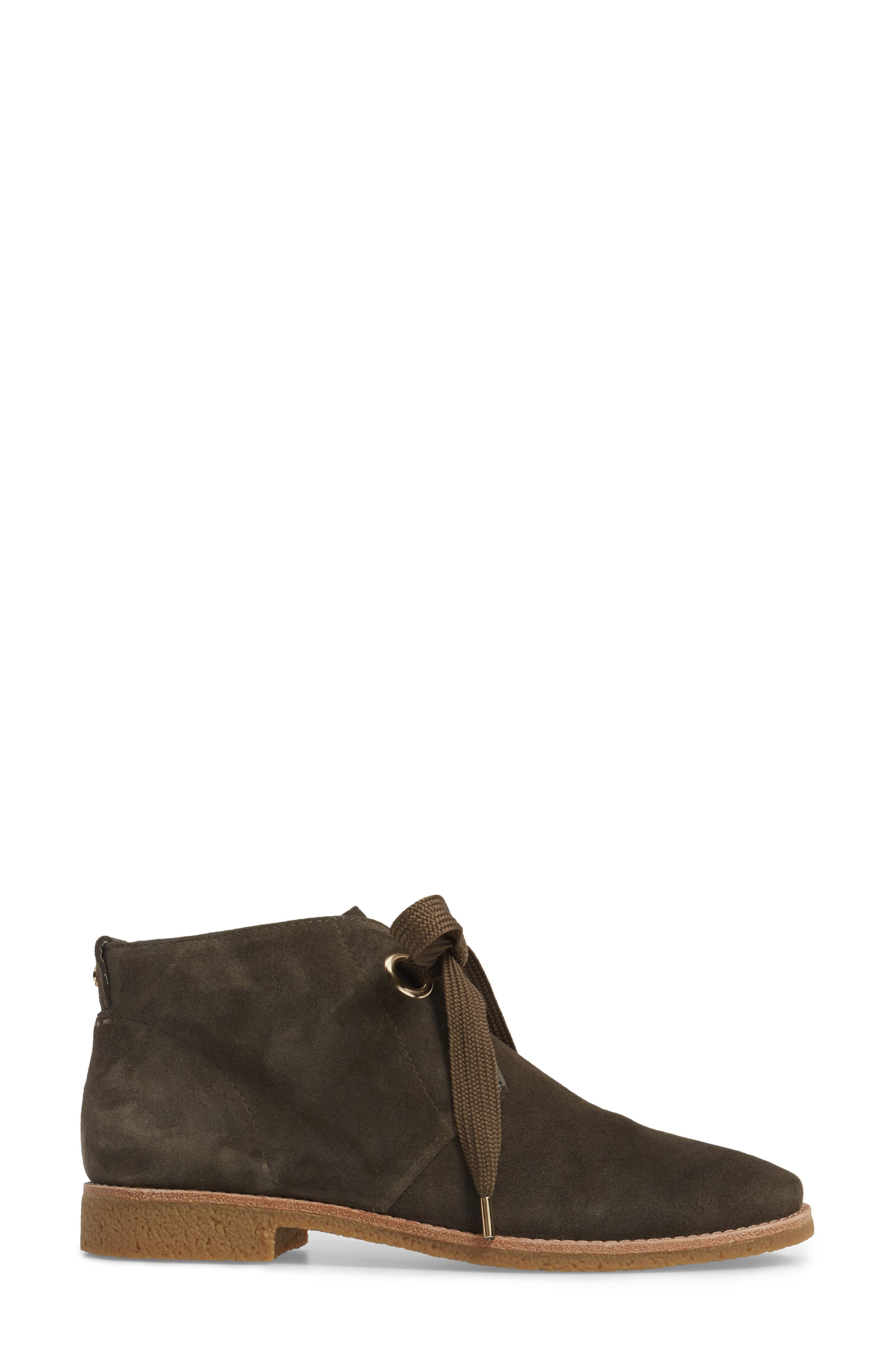 barrow chukka boot,                             Alternate thumbnail 3, color,                             Olive Green Suede