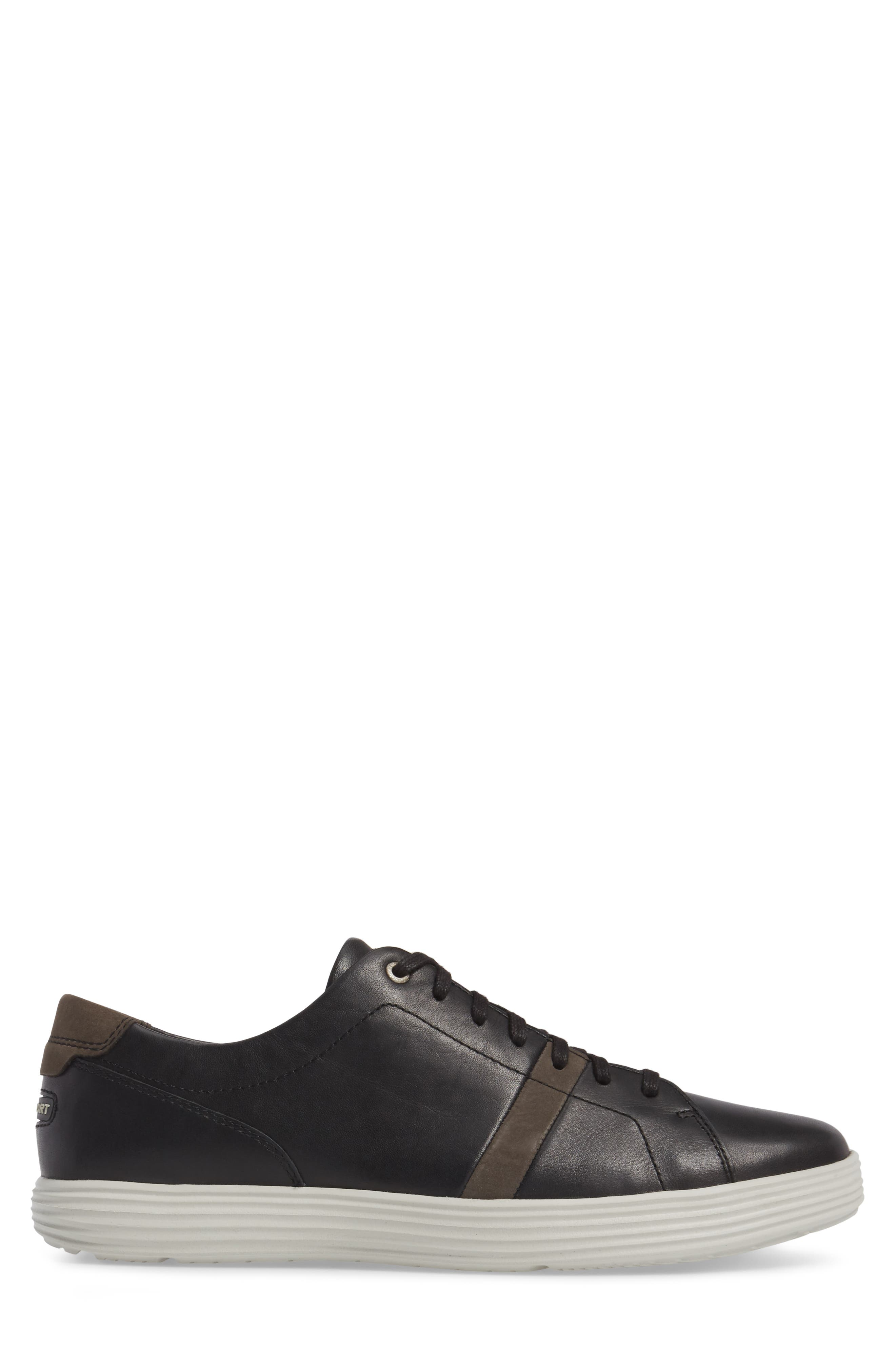 Thurston Sneaker,                             Alternate thumbnail 3, color,                             Black Leather