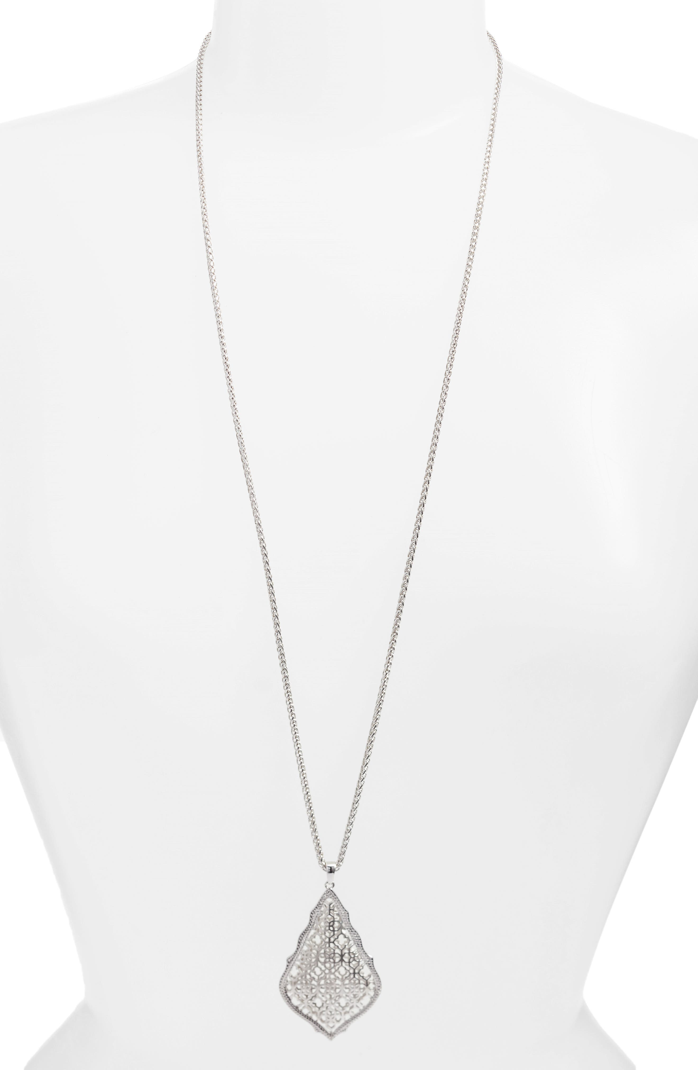 'Aiden' Pendant Necklace,                             Main thumbnail 1, color,                             Silver