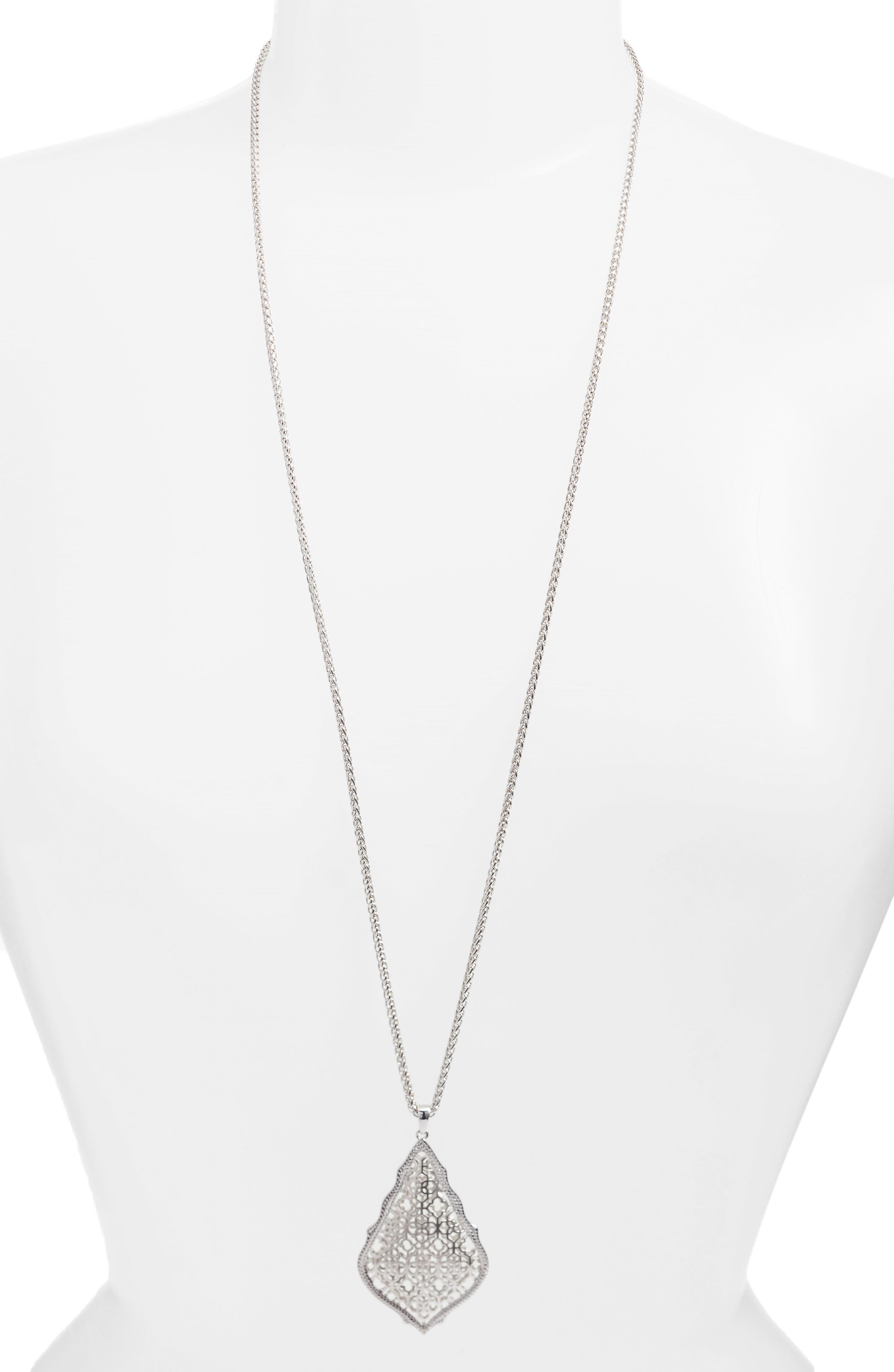 'Aiden' Pendant Necklace,                         Main,                         color, Silver
