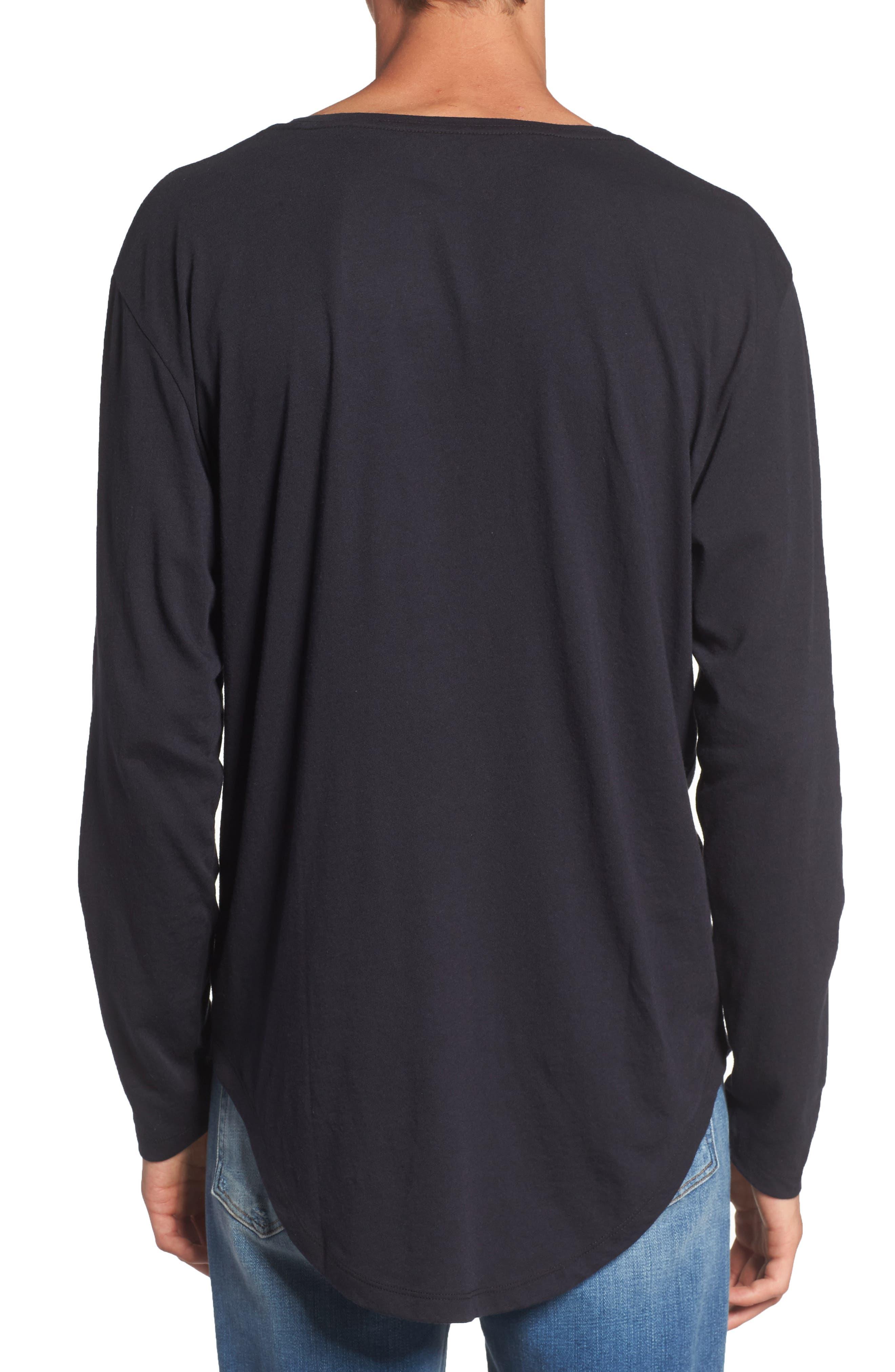 Shirttail T-Shirt,                             Alternate thumbnail 2, color,                             Black Rock