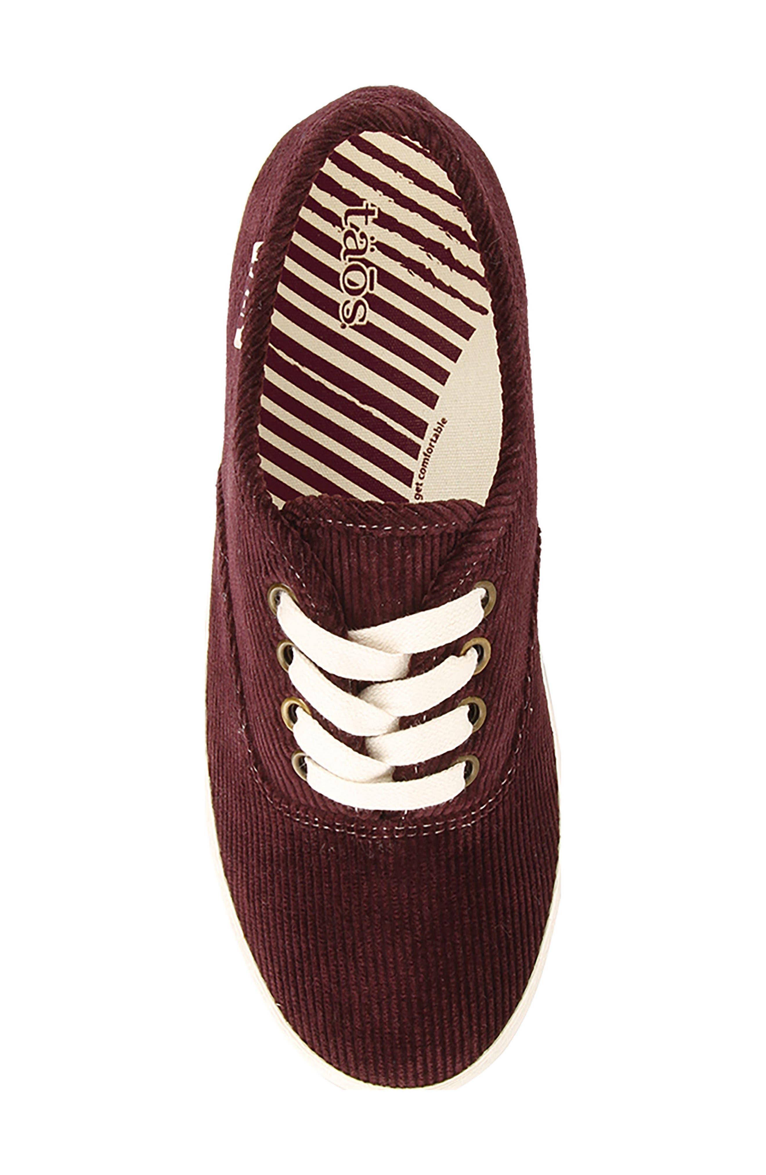 Guest Star Sneaker,                             Alternate thumbnail 5, color,                             Bordeaux Cord Fabric