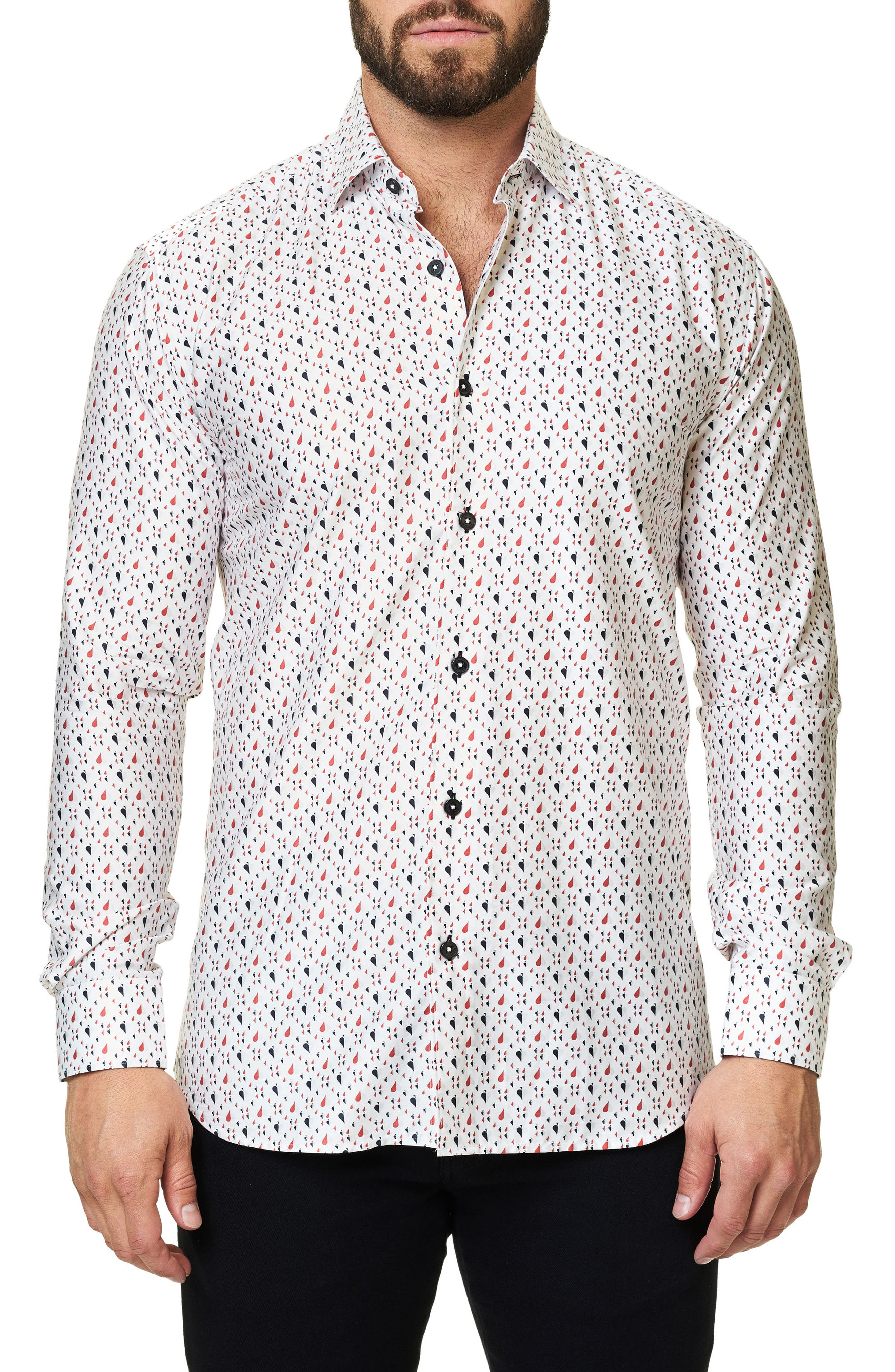 Alternate Image 3  - Maceoo Trim Fit Print Sport Shirt