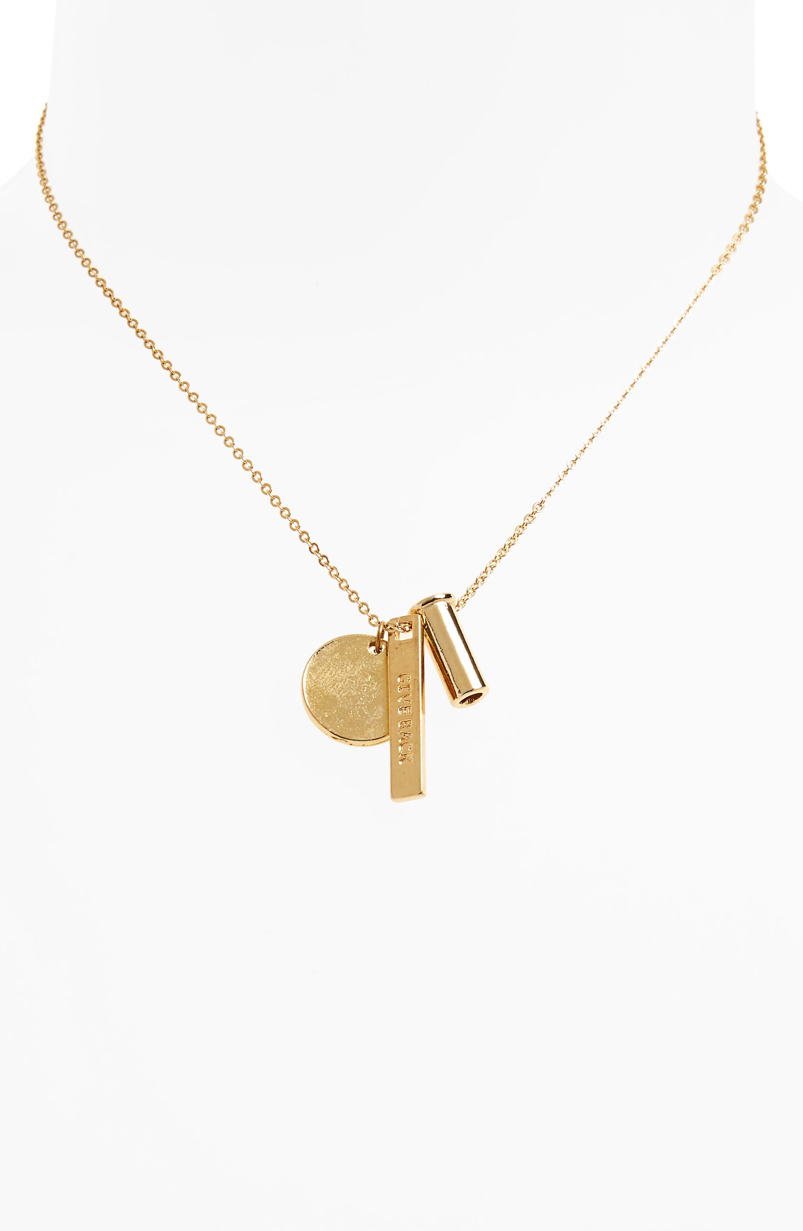 Vine Necklace,                         Main,                         color, Gold