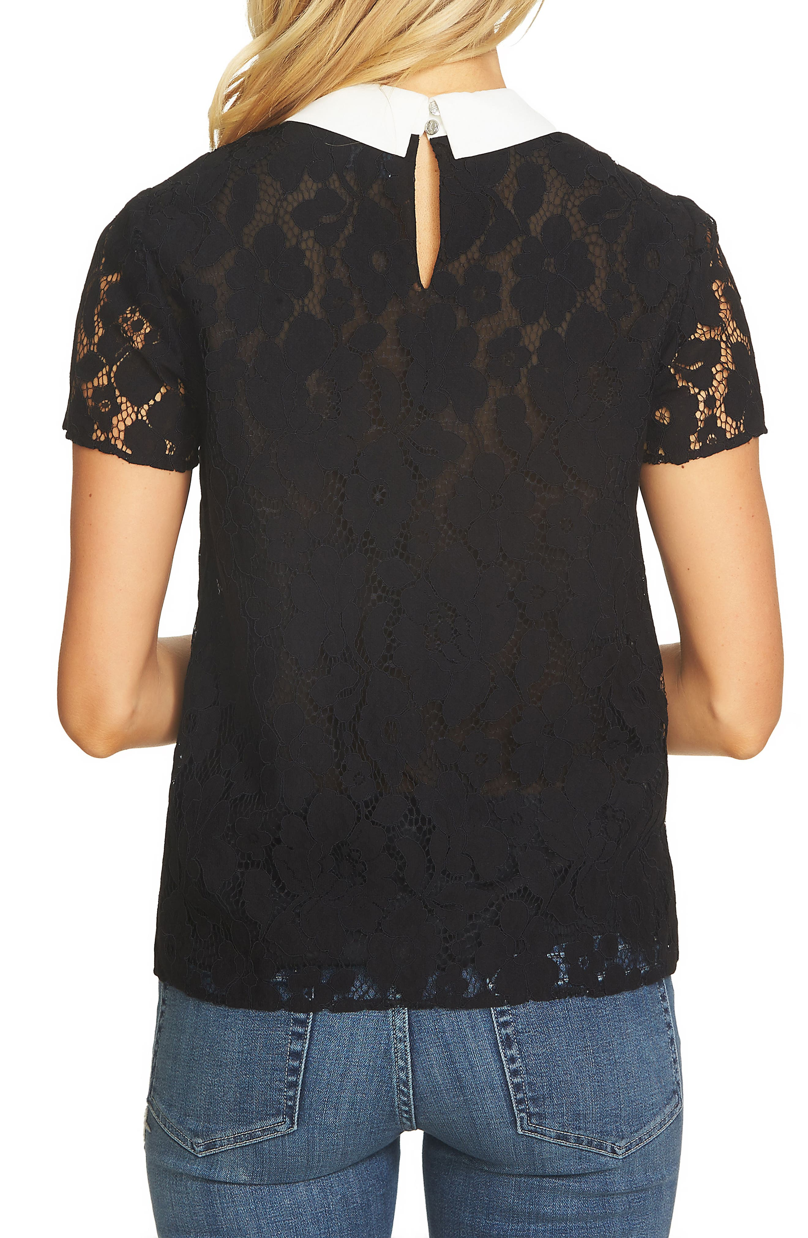Alternate Image 2  - CeCe Floral Lace Blouse