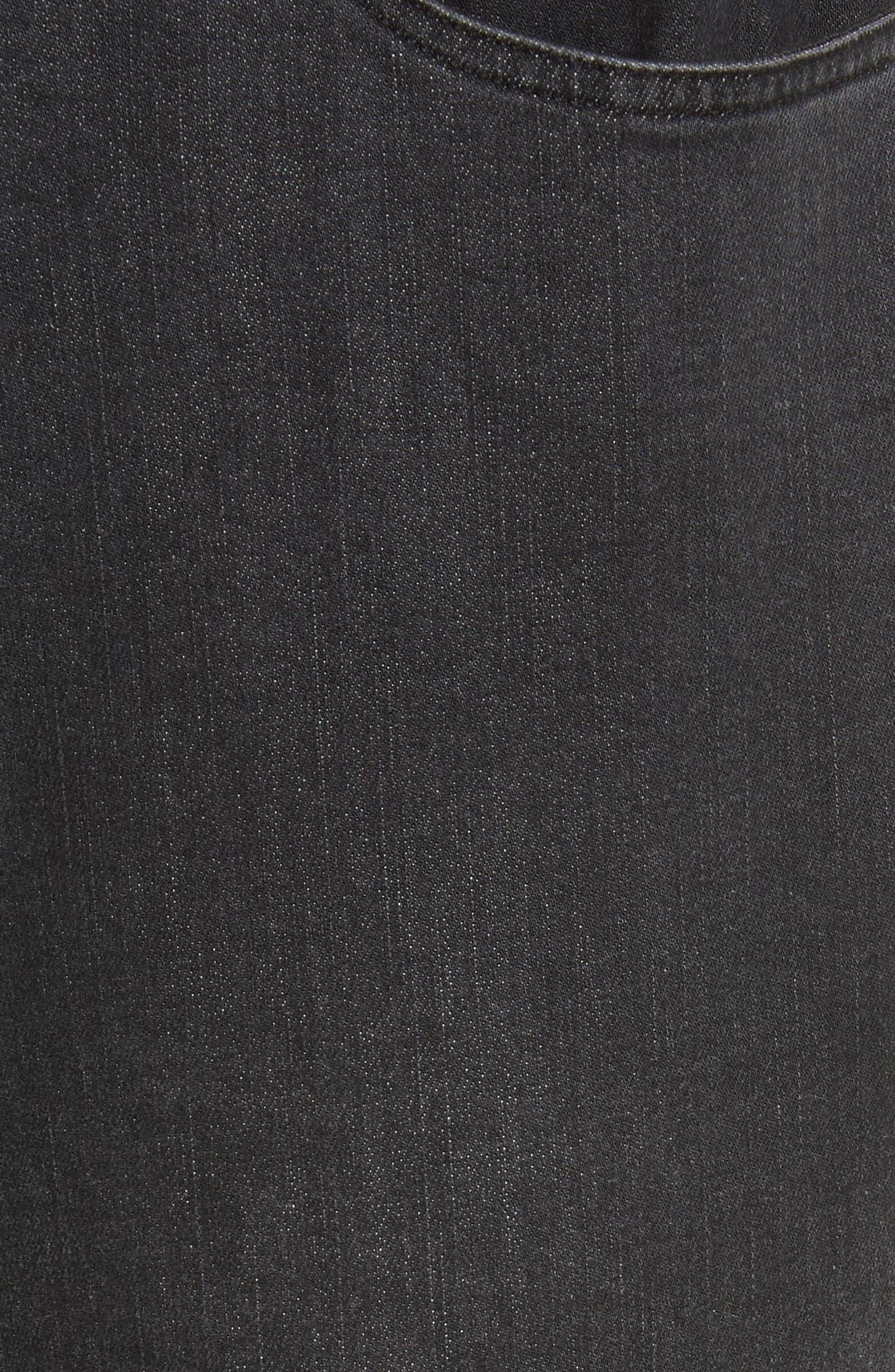 High Waist Slim Jeans,                             Alternate thumbnail 6, color,                             Black Rinse