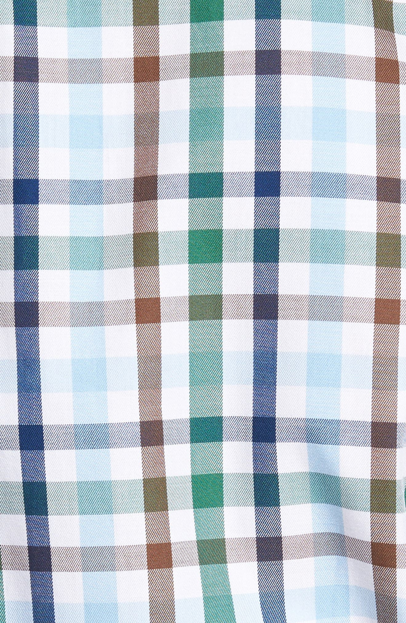 Alternate Image 5  - Peter Millar Trail Check Sport Shirt