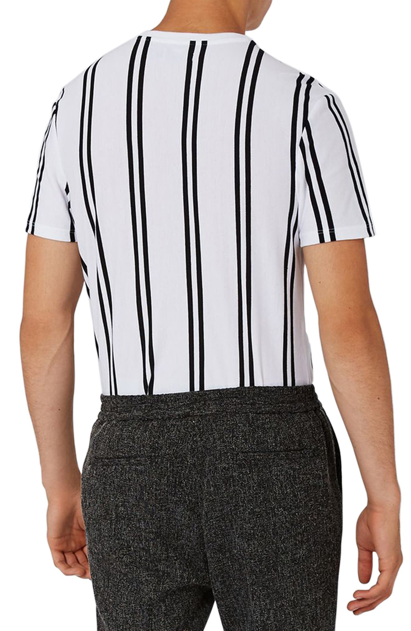 Dilan Stripe T-Shirt,                             Alternate thumbnail 2, color,                             White Multi