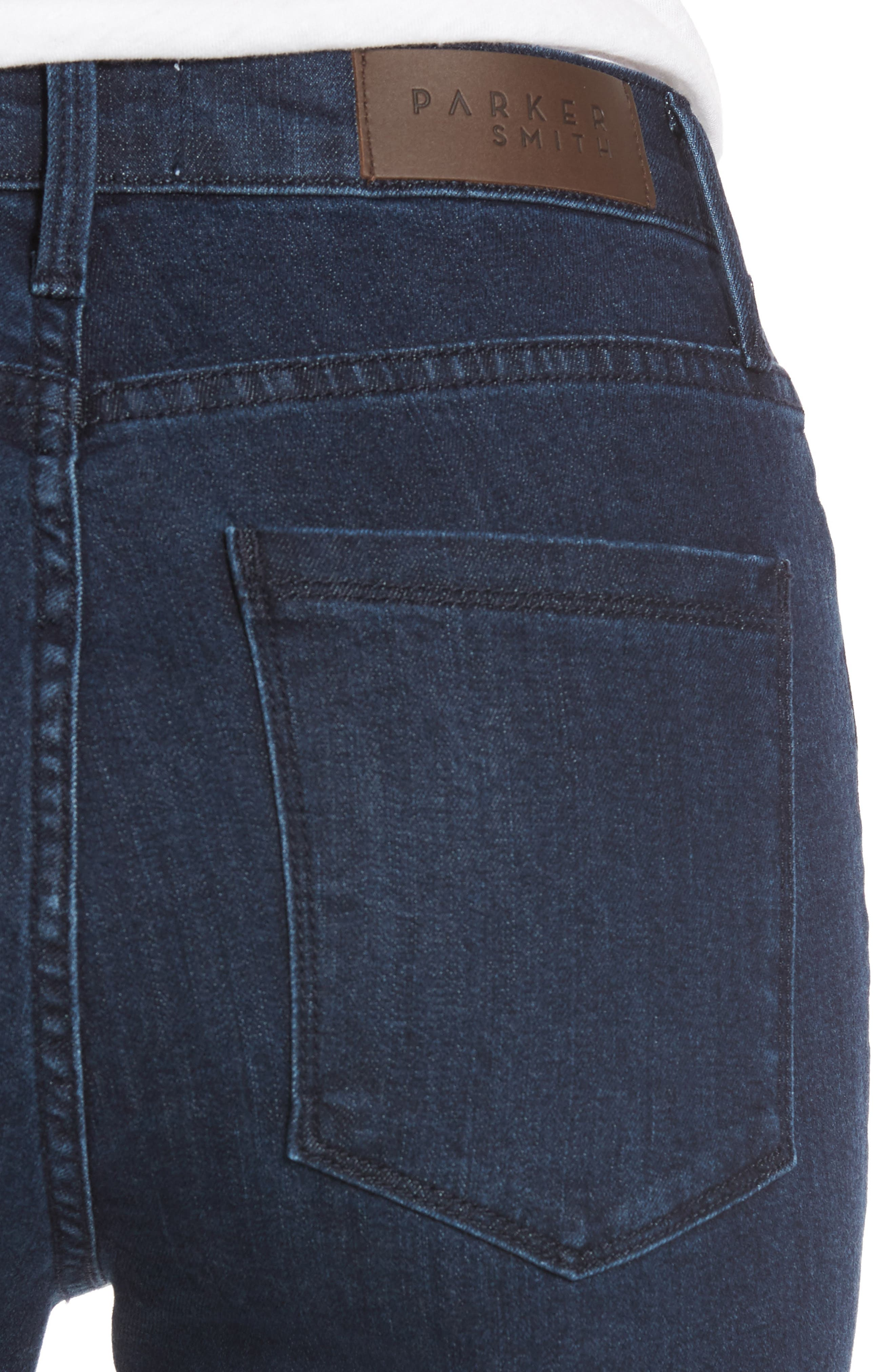 Alternate Image 4  - PARKER SMITH Bombshell Runaround Straight Leg Jeans (Baltic)
