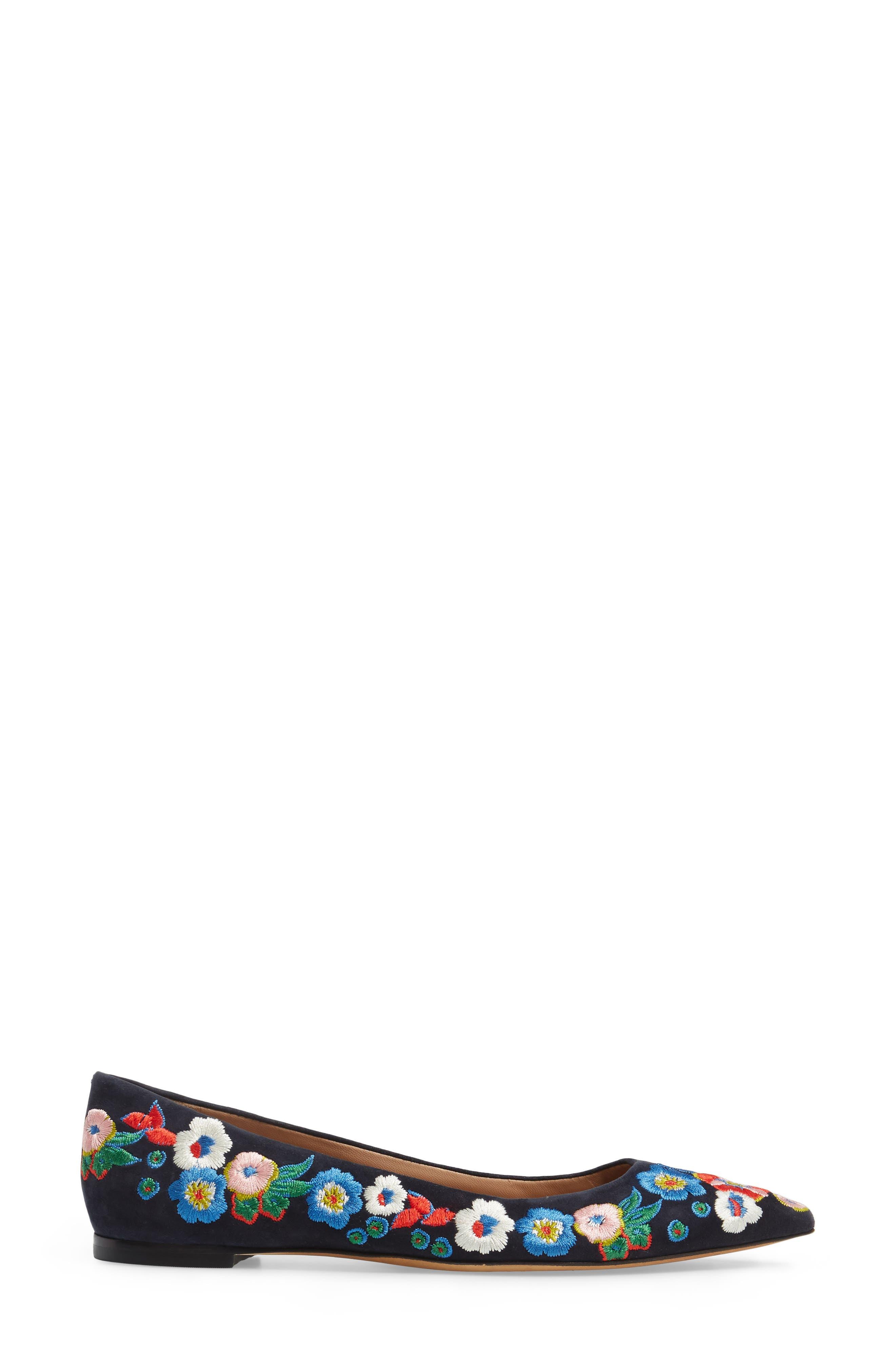 Alternate Image 3  - Tory Burch Rosemont Flower Embroidered Flat (Women)