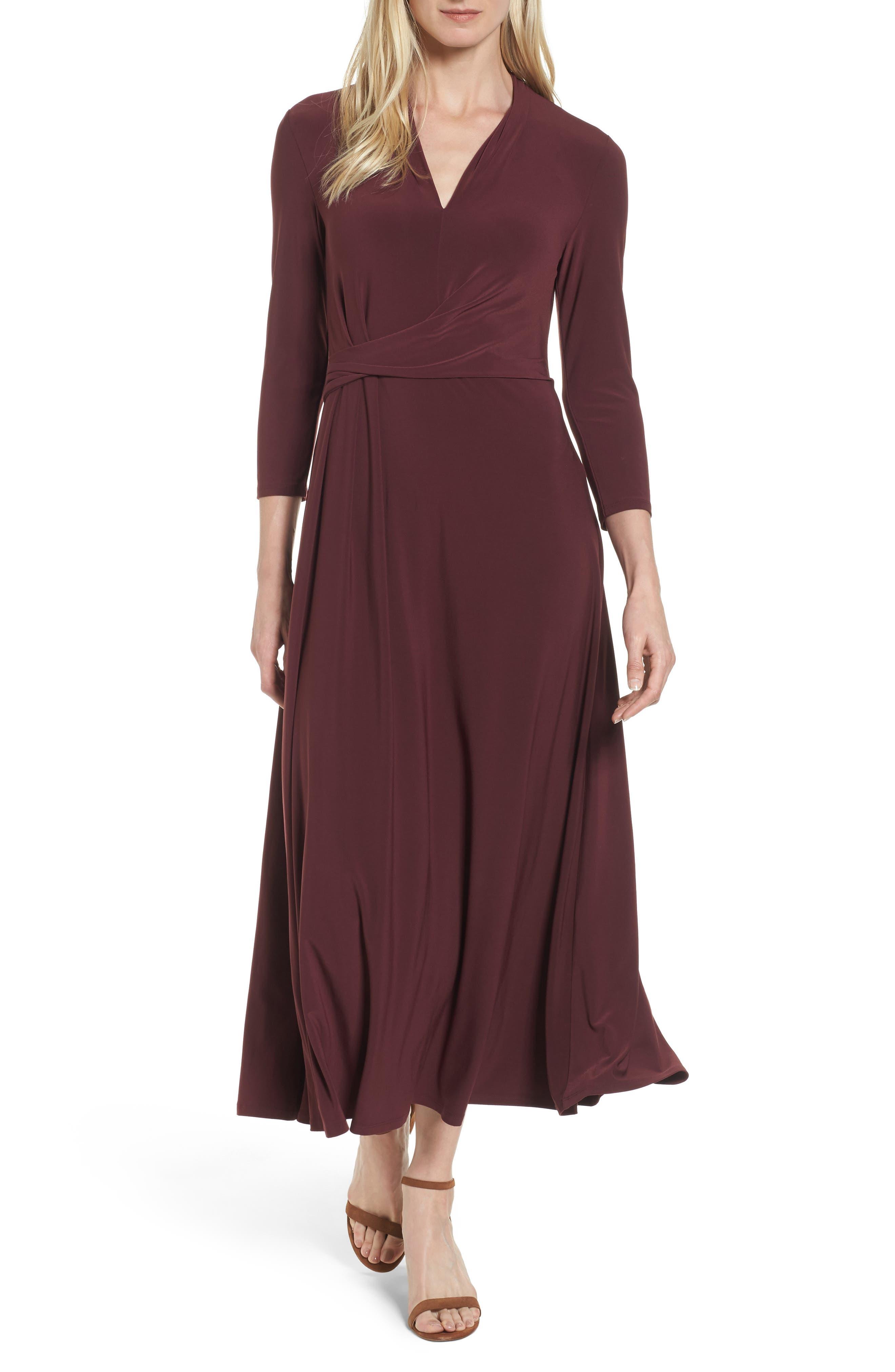 Chaus Twist Side Midi Dress