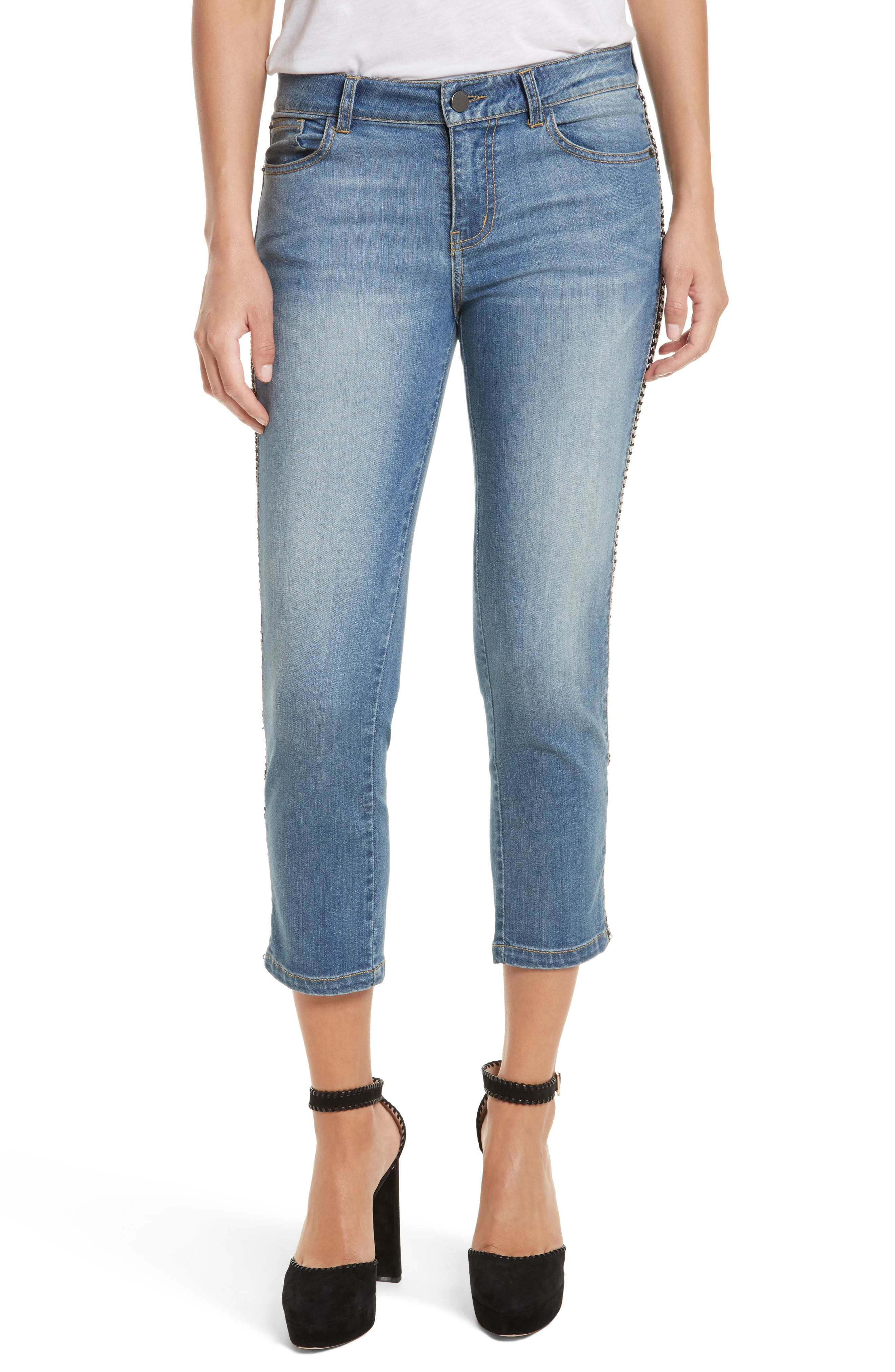 Alternate Image 1 Selected - Alice + Olivia Jane Crop Skinny Jeans
