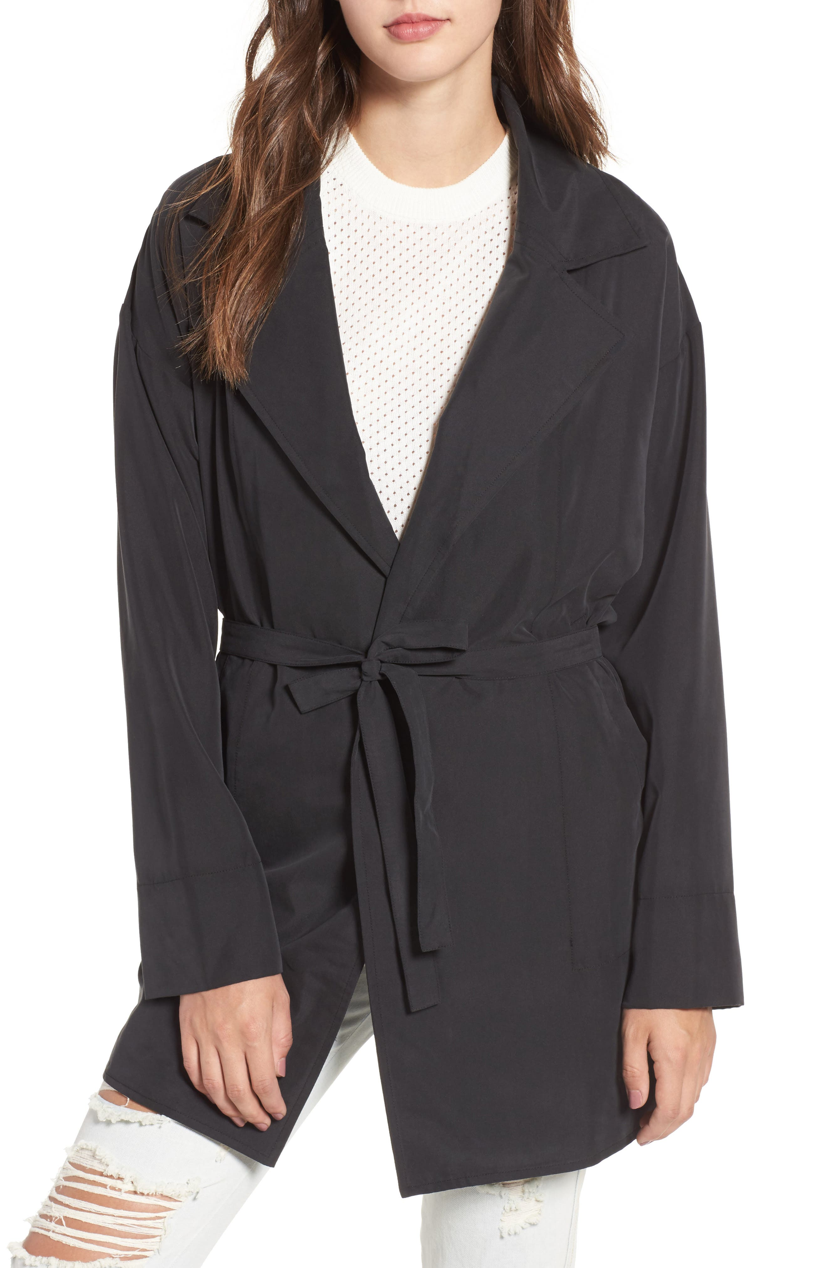 Remake Draped Jacket,                         Main,                         color, Black