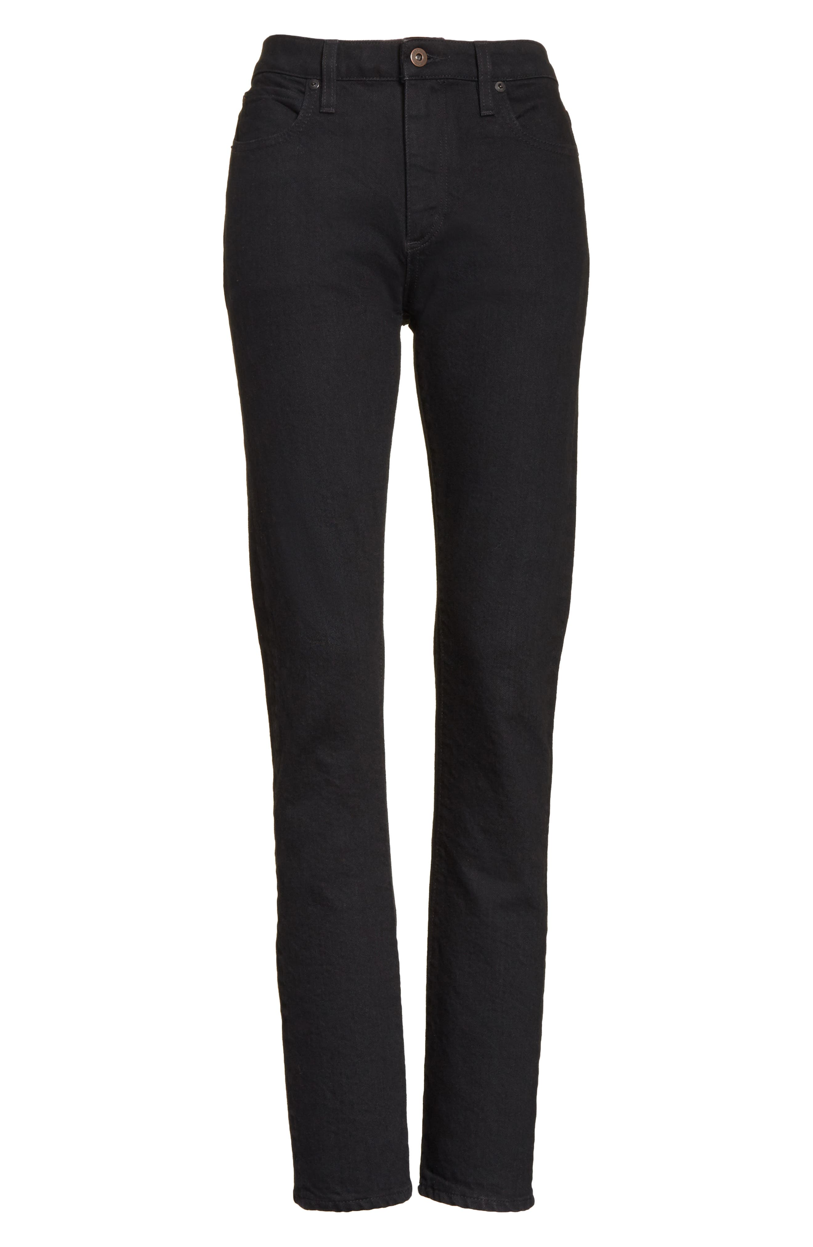 Boyd High Rise Jeans,                             Alternate thumbnail 6, color,                             Black