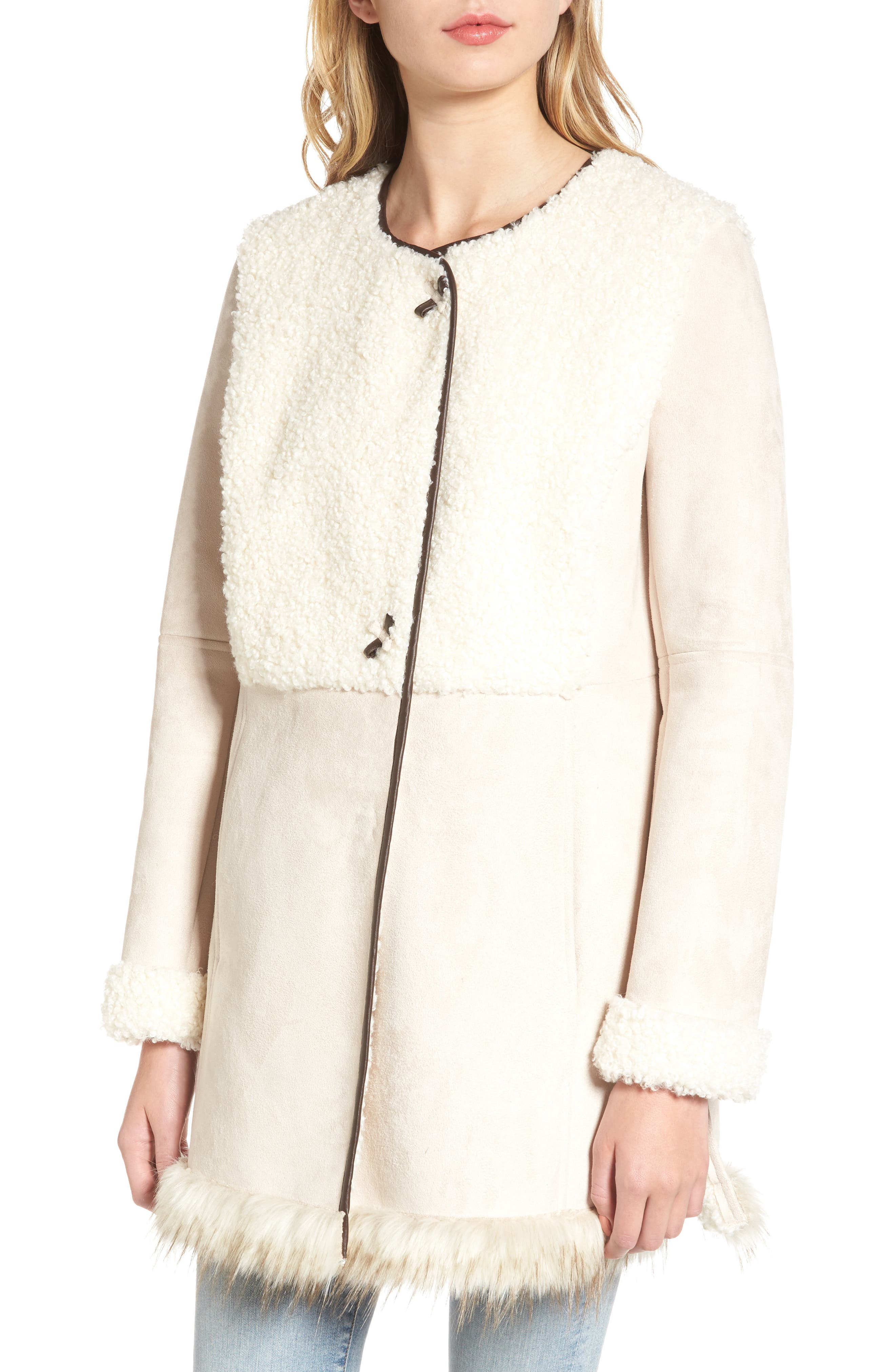 Alternate Image 4  - Sam Edelman Faux Shearling Car Coat