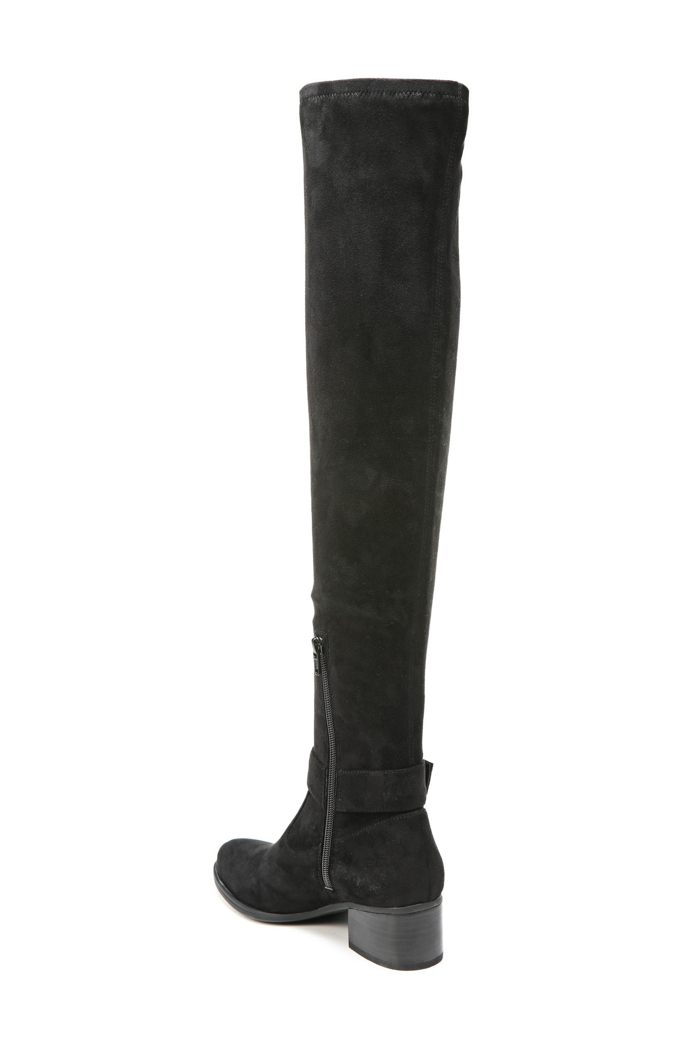 Dalyn Over the Knee Boot,                             Alternate thumbnail 4, color,                             Black Stretch Microfiber