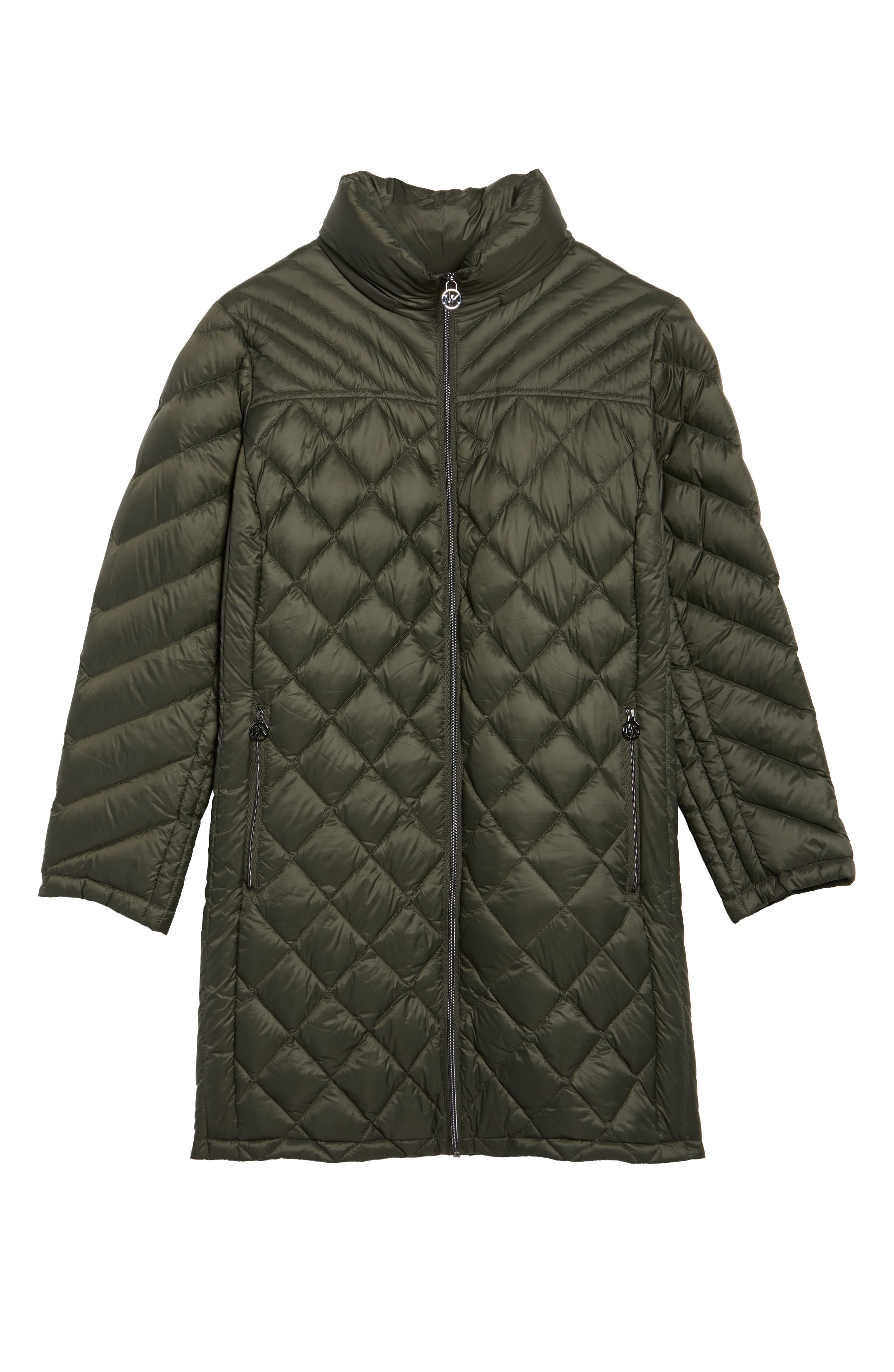 Alternate Image 6  - MICHAEL Michael Kors Packable Down Jacket (Plus Size)