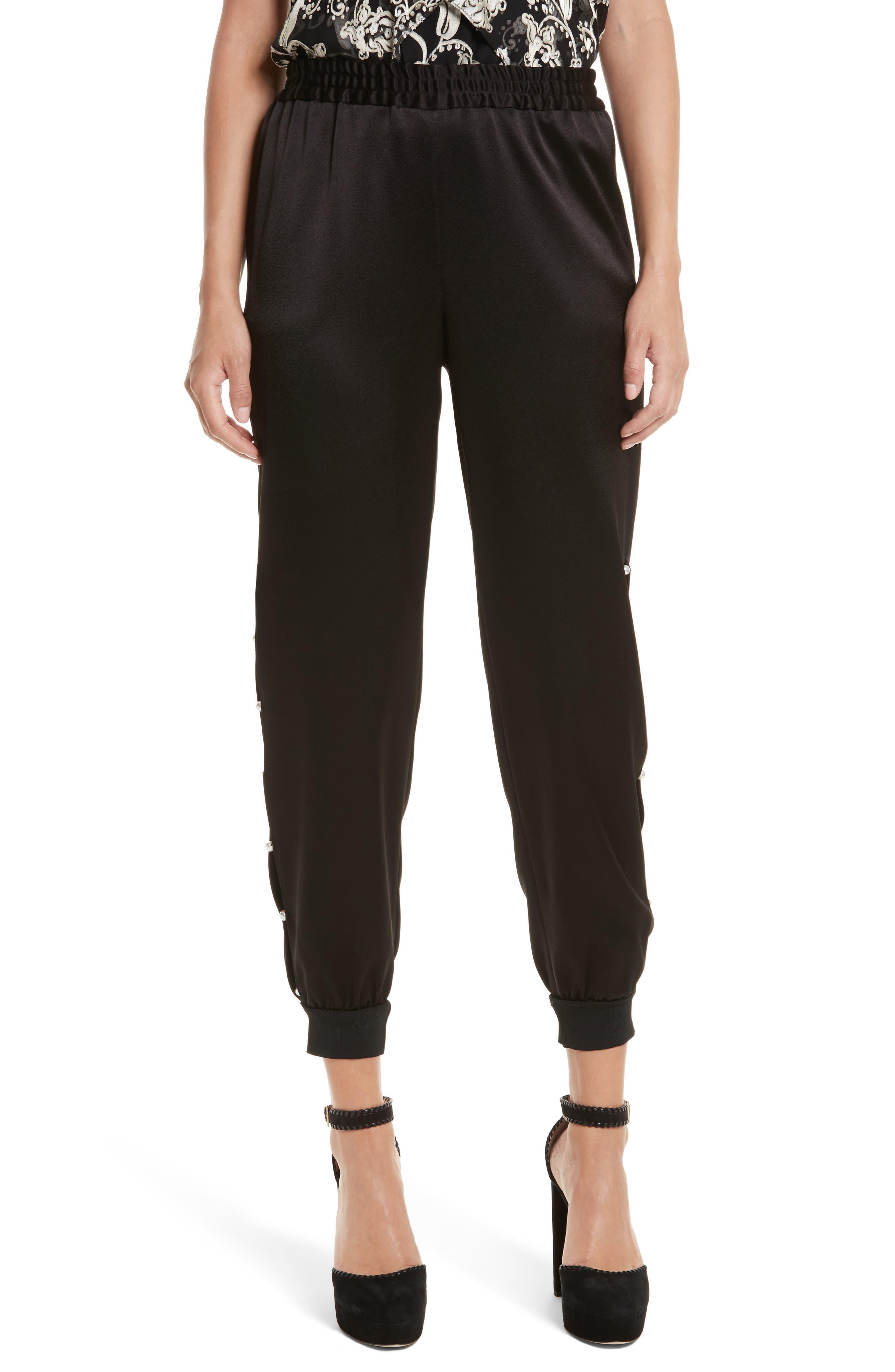 Pete Embellished Side Jogger Pants,                         Main,                         color, Black