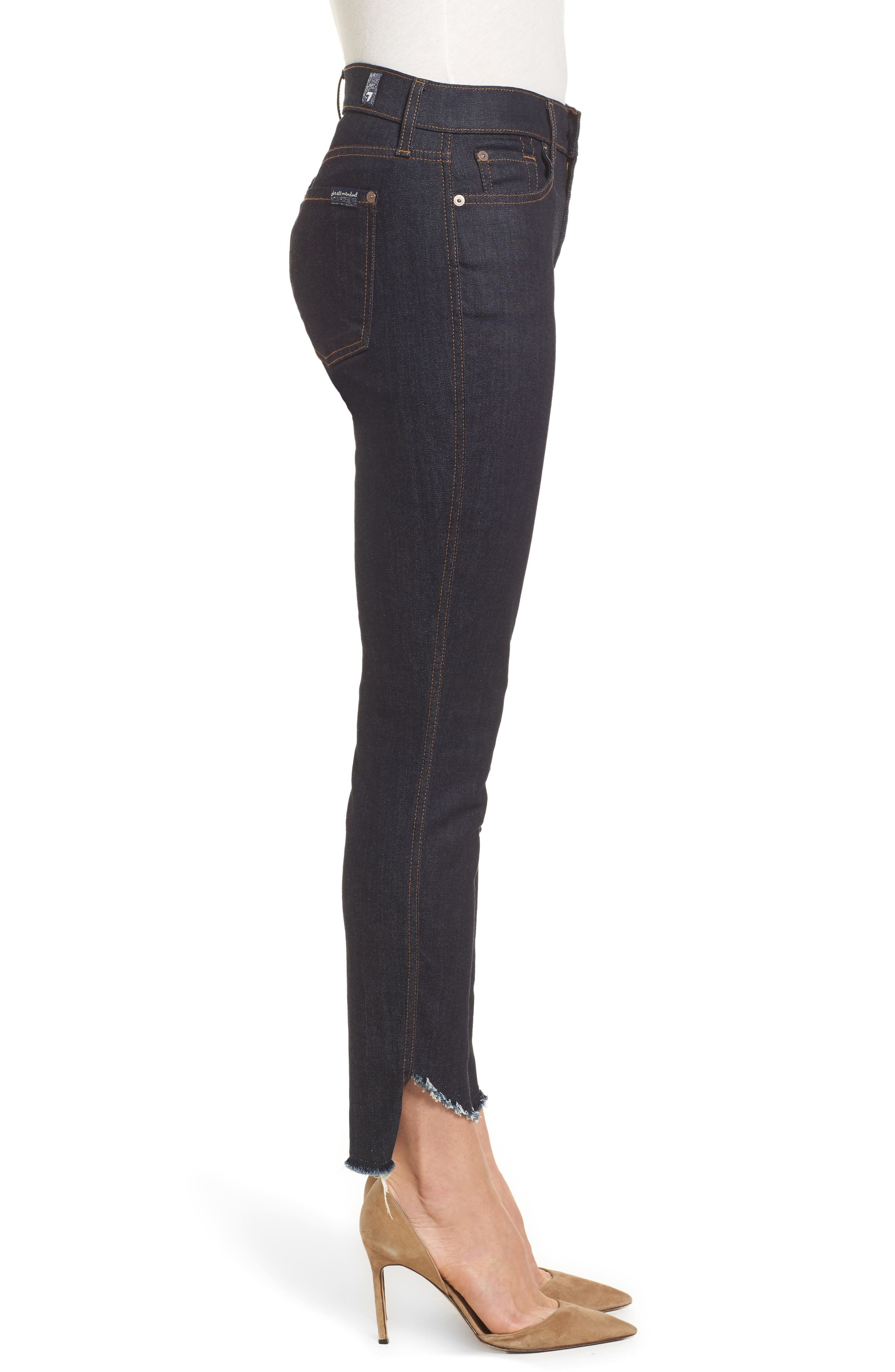 Alternate Image 3  - 7 For All Mankind® Step Hem Ankle Skinny Jeans (New York Rinse)