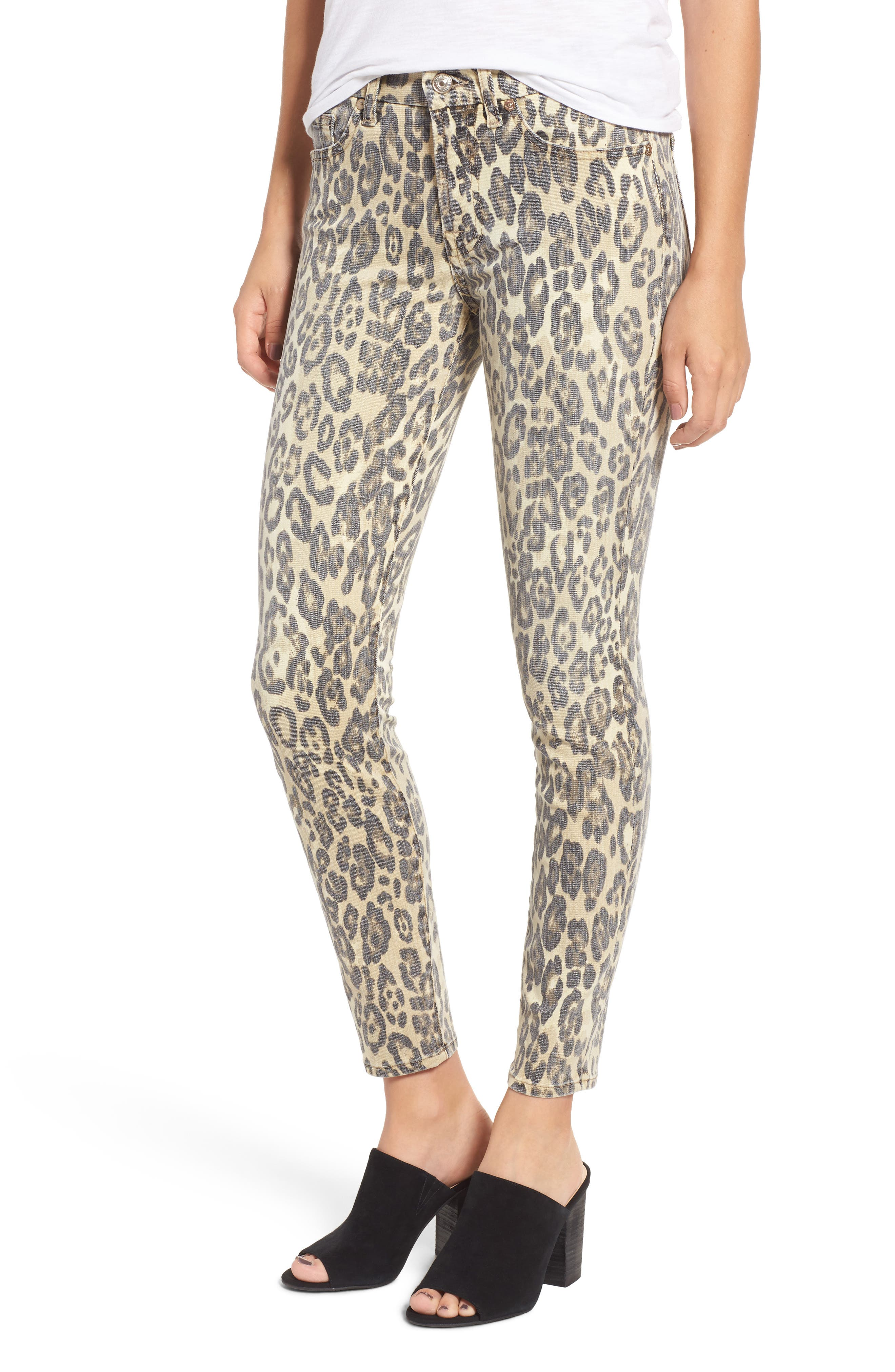 7 For All Mankind The Ankle Skinny Jeans (Cheetah)