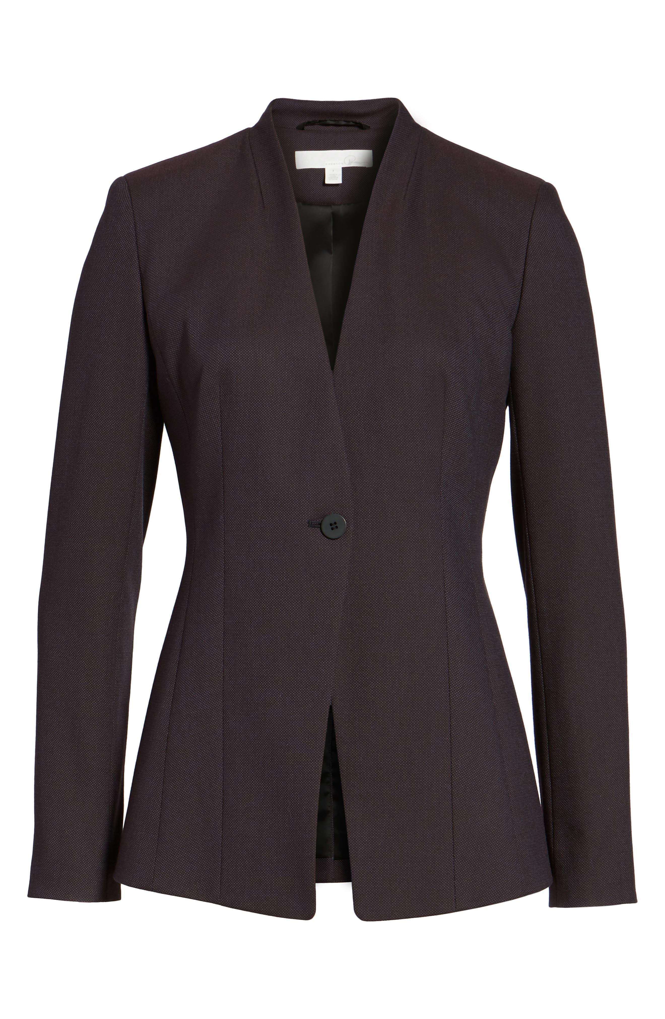 One-Button Suit Jacket,                             Alternate thumbnail 7, color,                             Burgundy