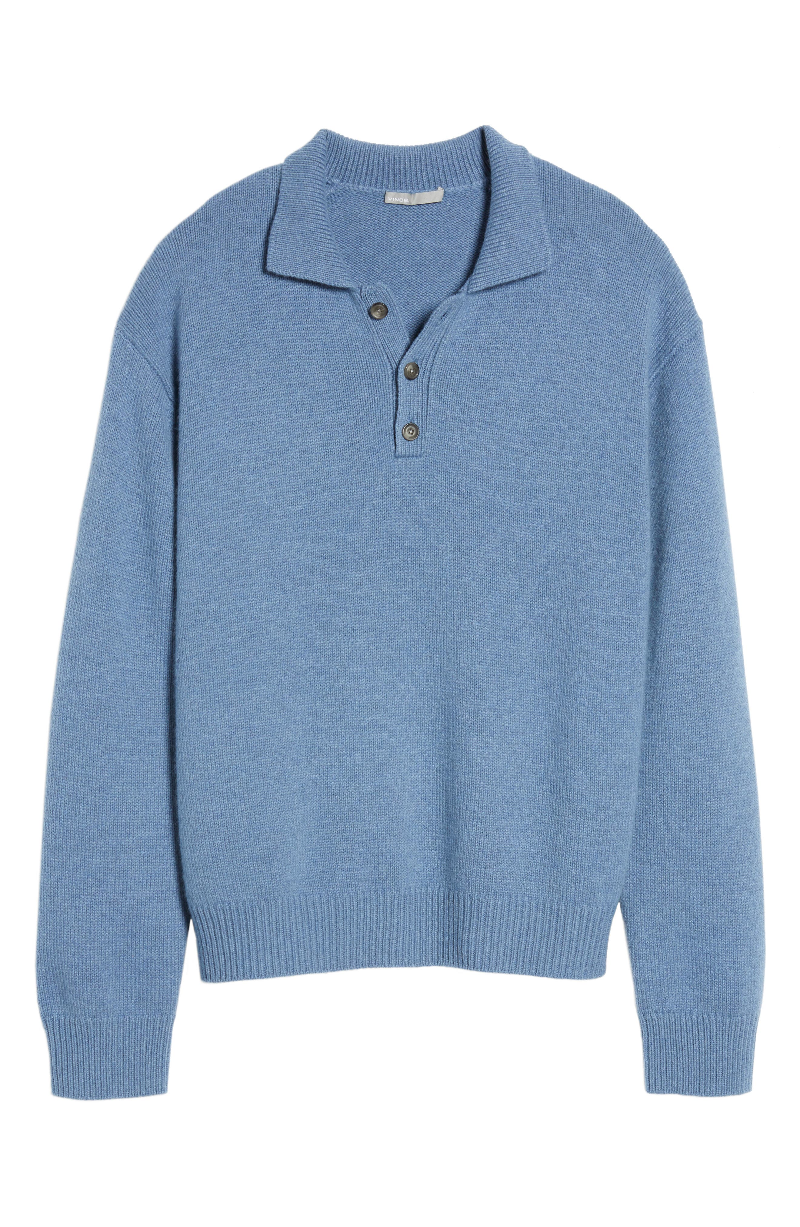 Alternate Image 6  - Vince Wool & Cashmere Polo Sweater