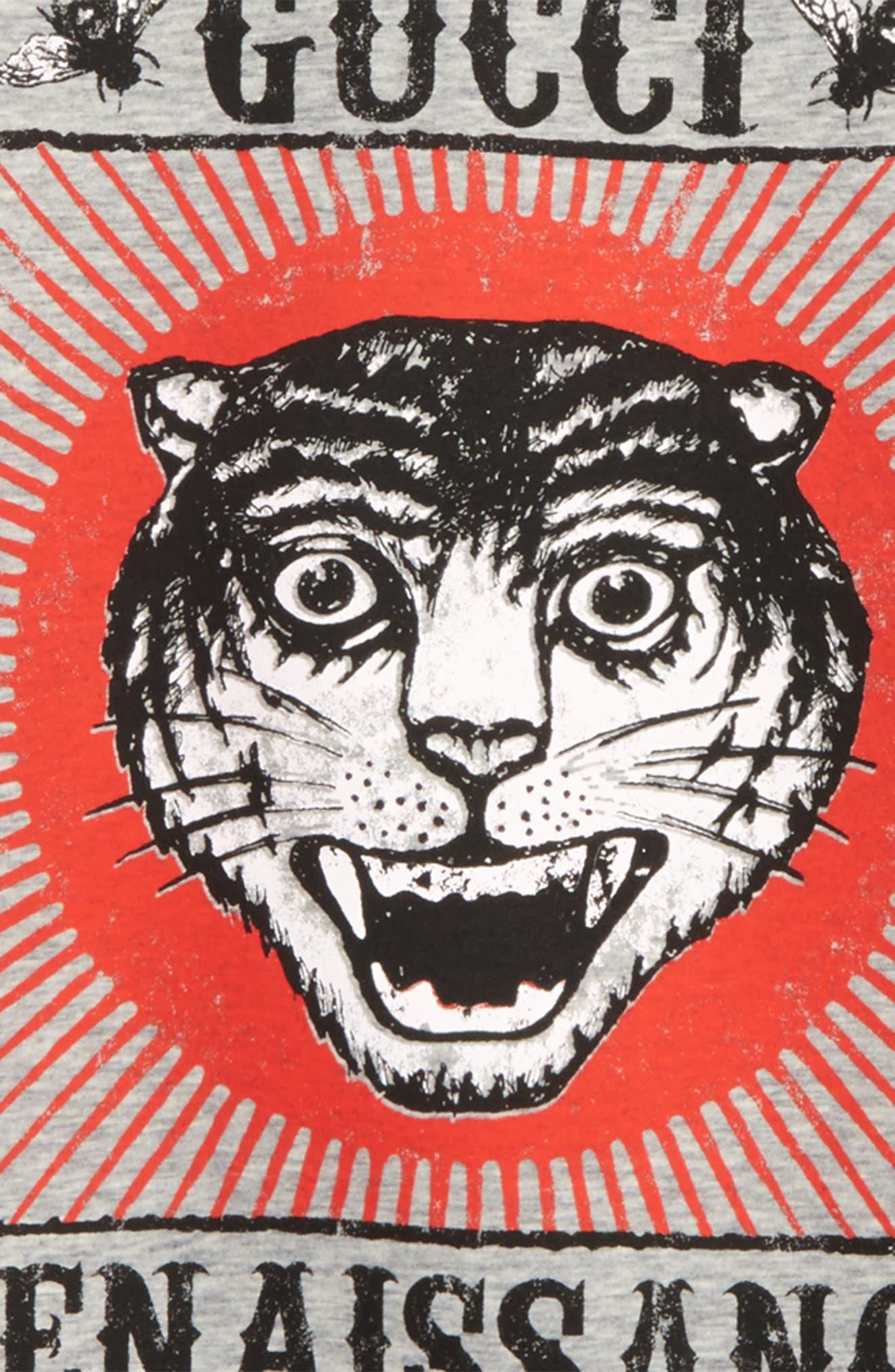 Alternate Image 2  - Gucci Tiger Graphic Sweatshirt (Little Boys & Big Boys)