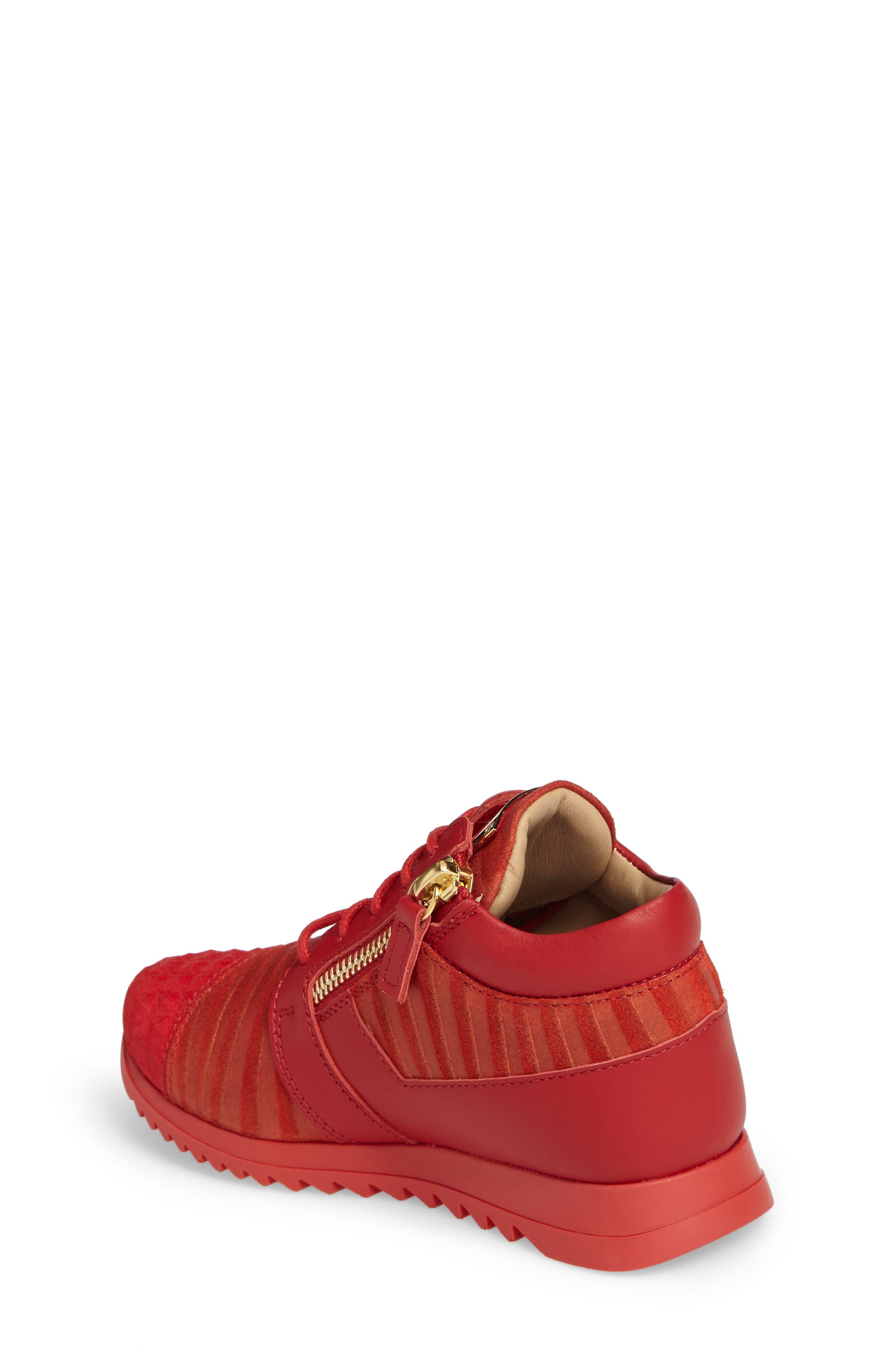Alternate Image 2  - Giuseppe Zanotti Iperstud Embossed Sneaker (Baby, Walker, Toddler & Little Kid)