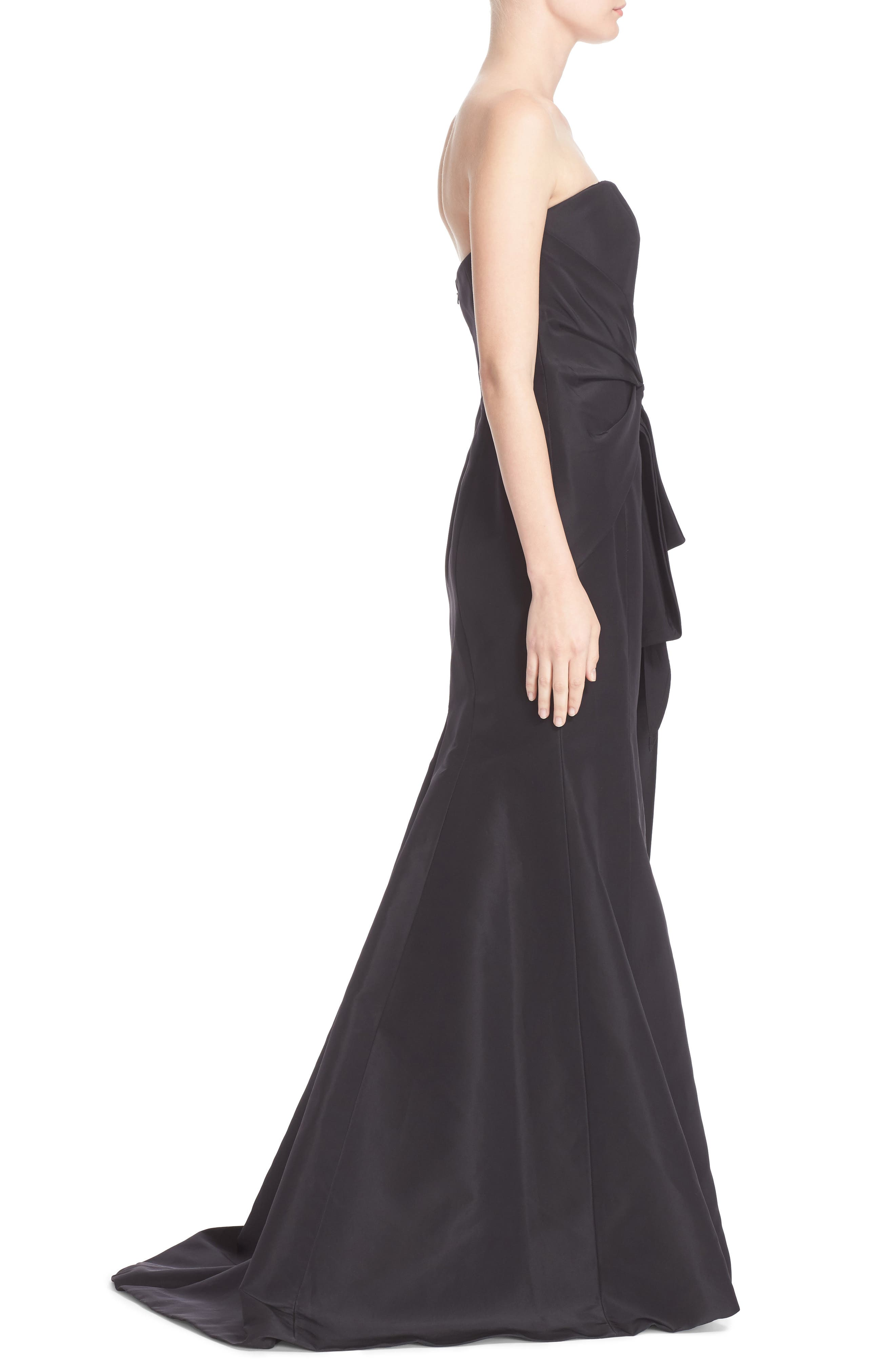 Alternate Image 3  - Carolina Herrera Bow Detail Strapless Silk Faille Gown (Nordstrom Exclusive)