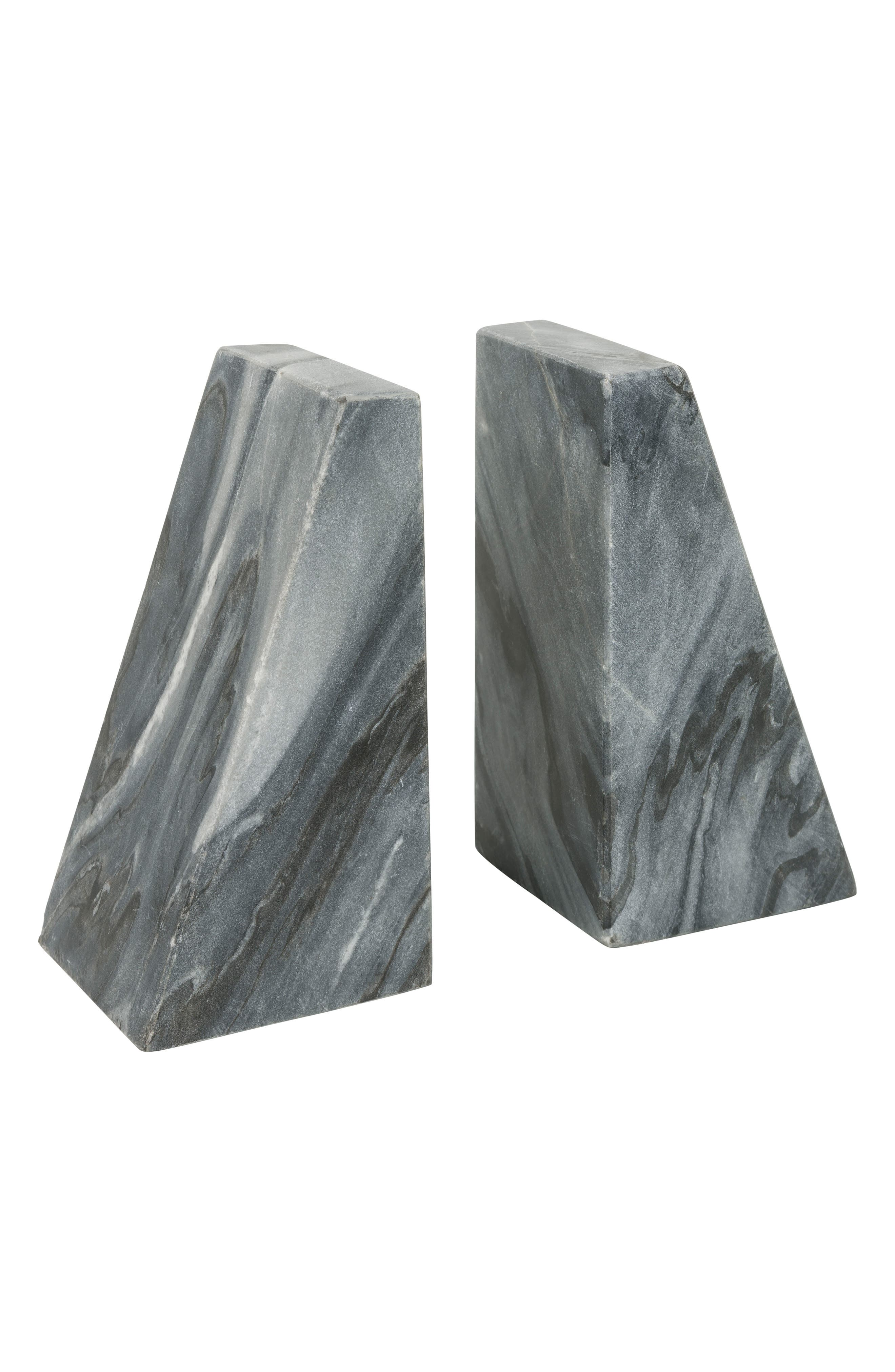 Mars Marble Bookends,                         Main,                         color, Grey Marble
