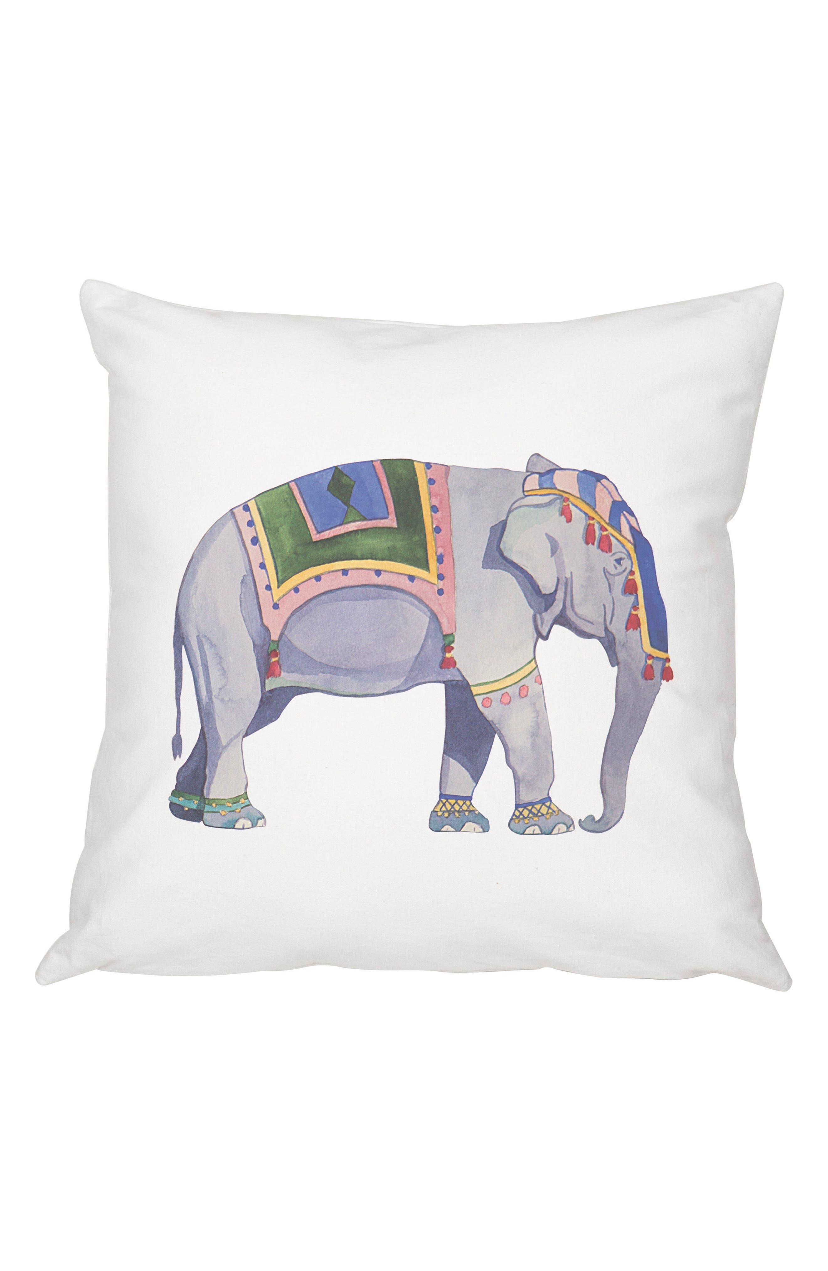 Elephant Accent Pillow,                         Main,                         color, Multi