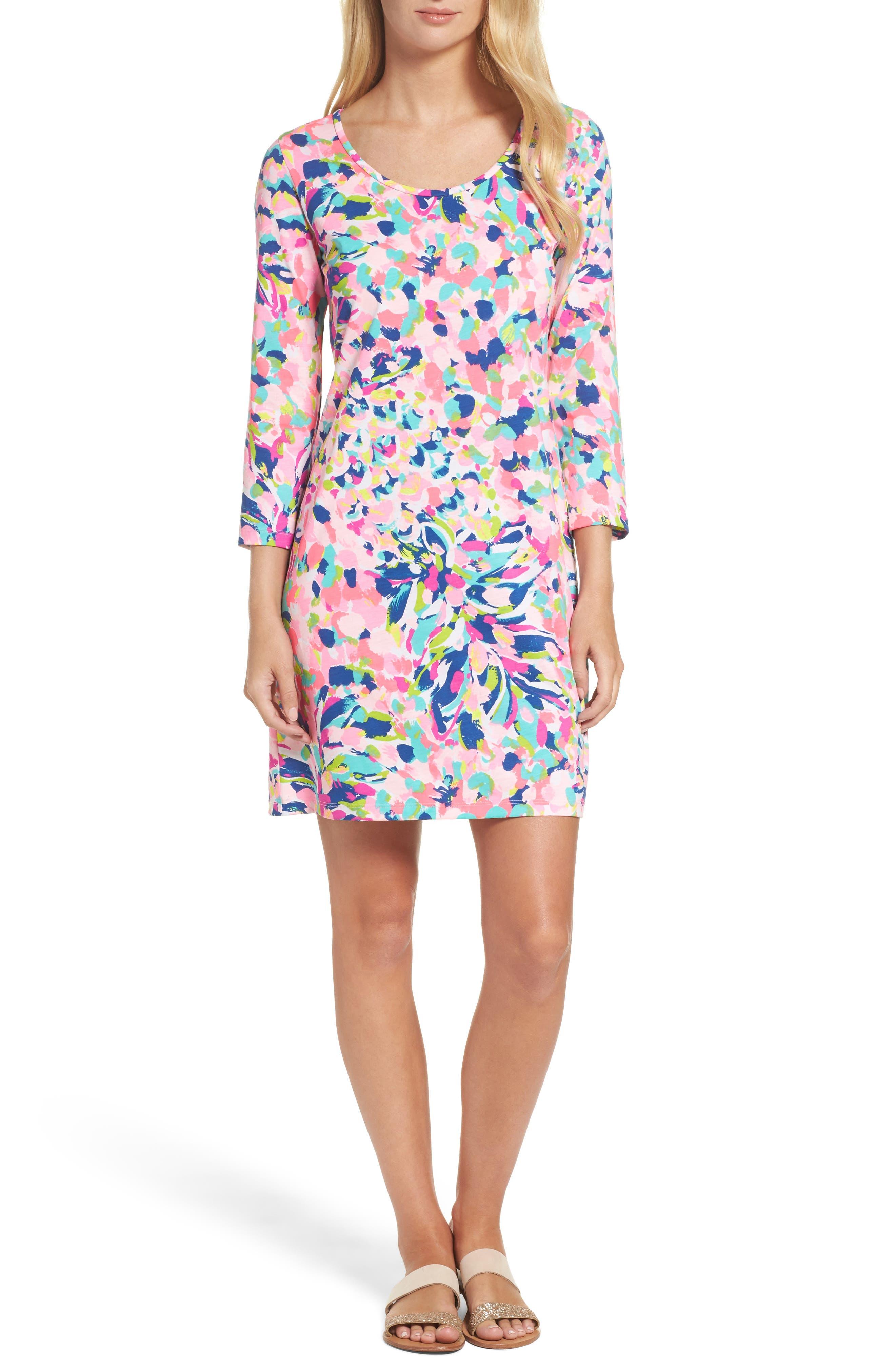 Beacon Shift Dress,                         Main,                         color, Multi Pina Colada Club