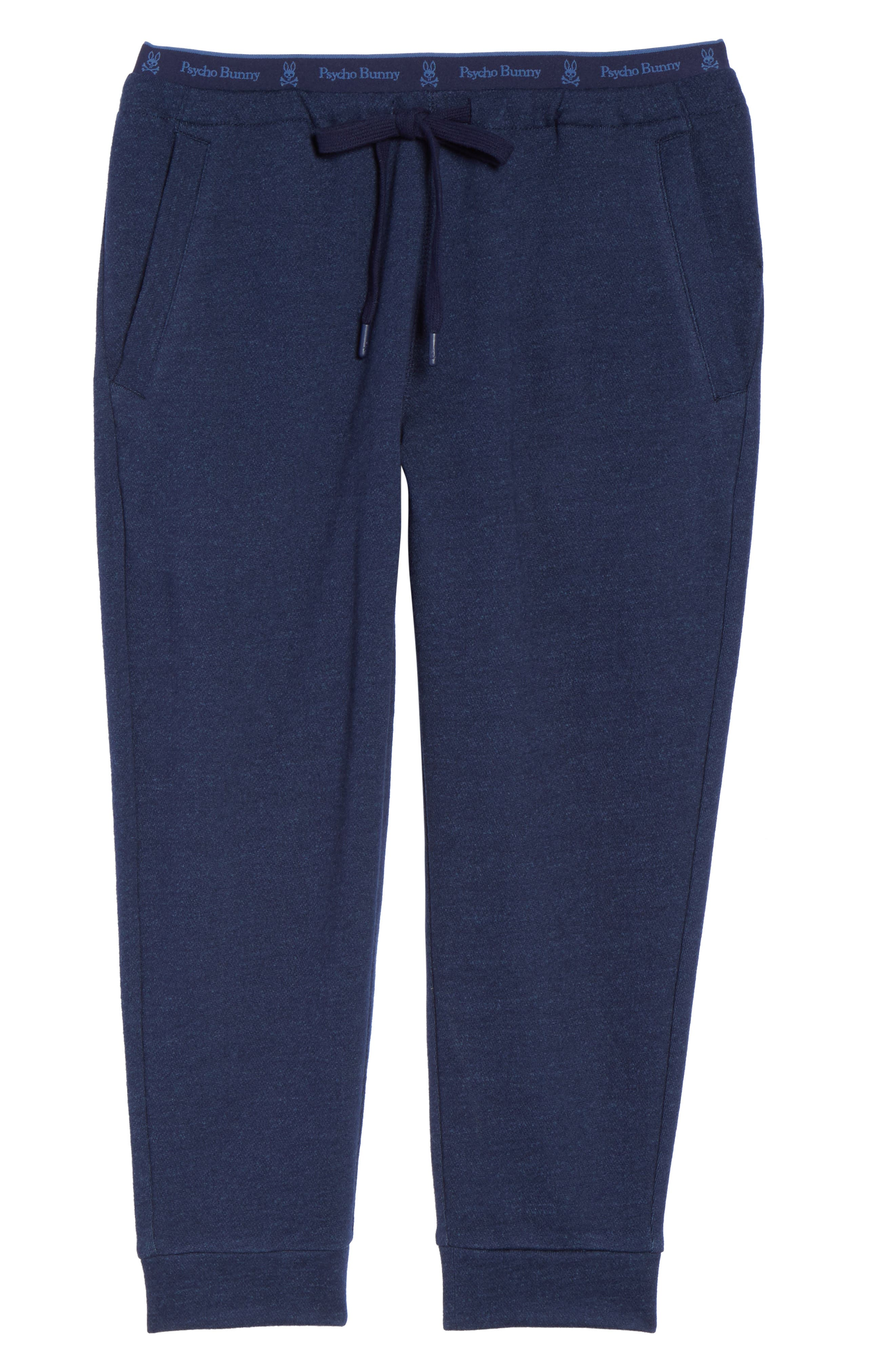 French Terry Pants,                             Alternate thumbnail 4, color,                             Peacoat