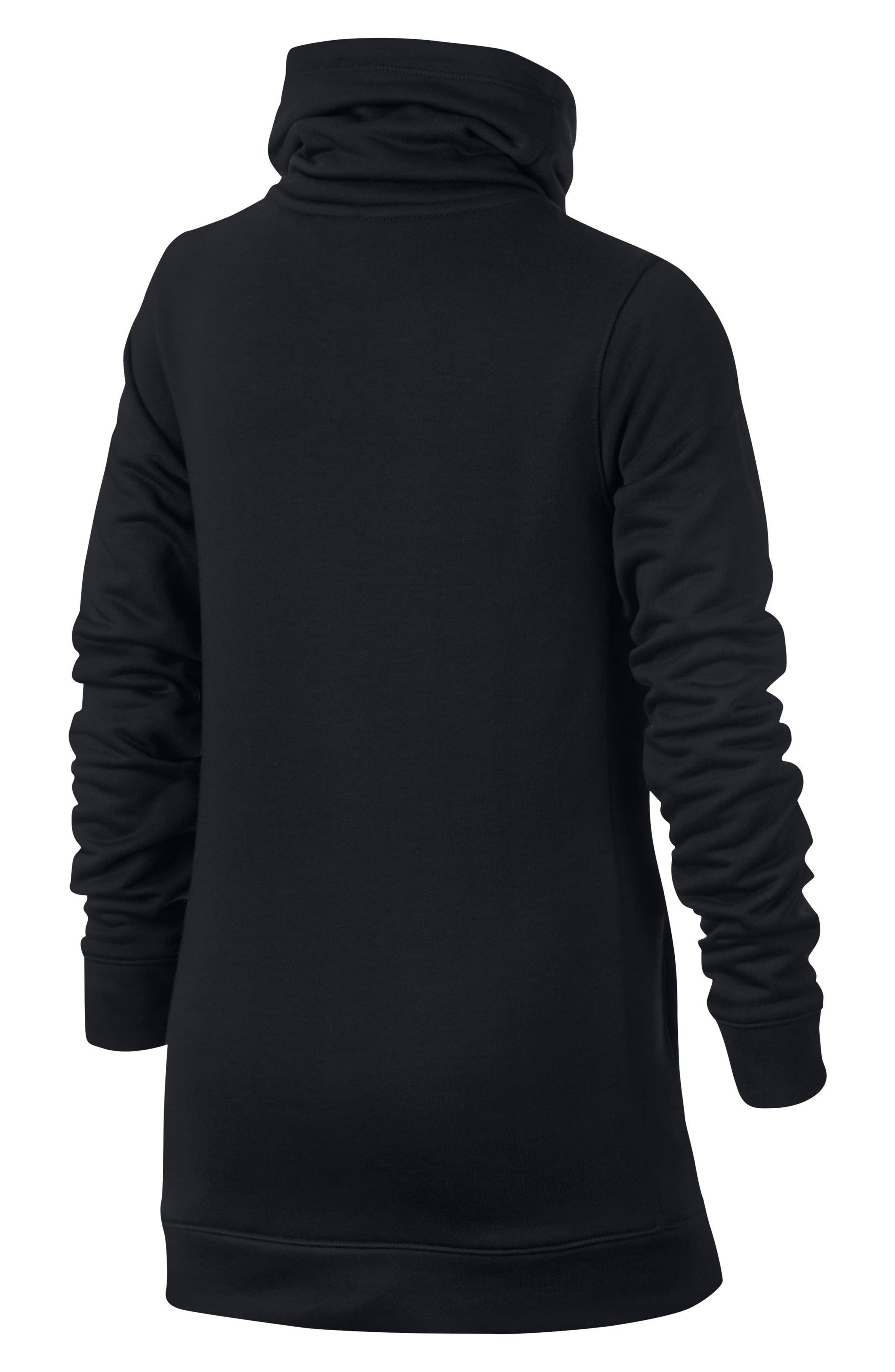 Alternate Image 2  - Nike Dry Core Studio Long Sleeve Pullover (Big Girls)